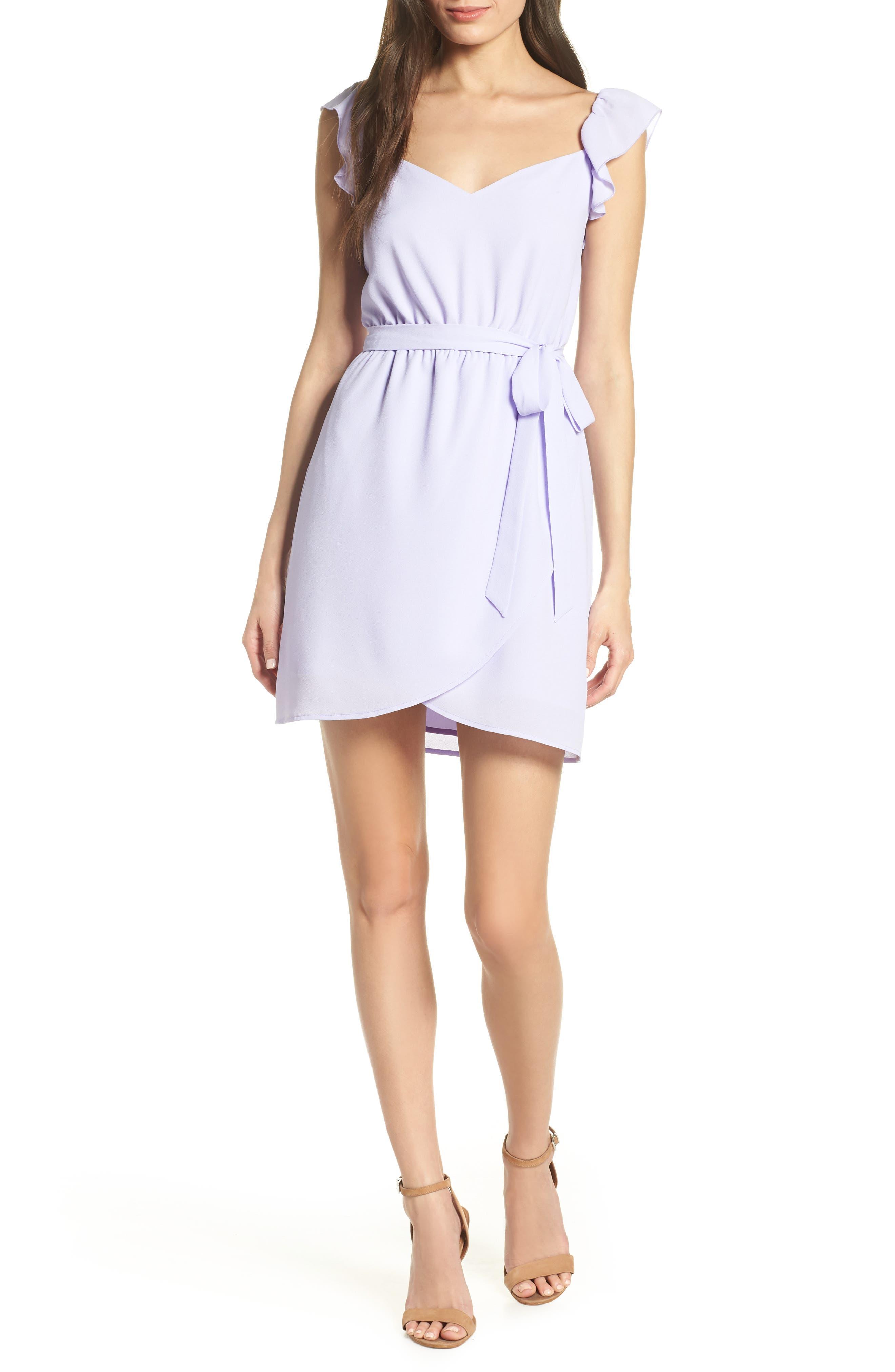 ALI & JAY Got Potential Faux Wrap Minidress, Main, color, LAVENDER