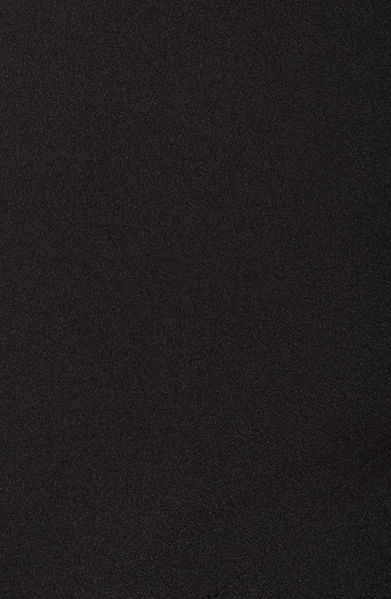 VINCE CAMUTO, Crepe Tie Front Wide Leg Jumpsuit, Alternate thumbnail 6, color, BLACK