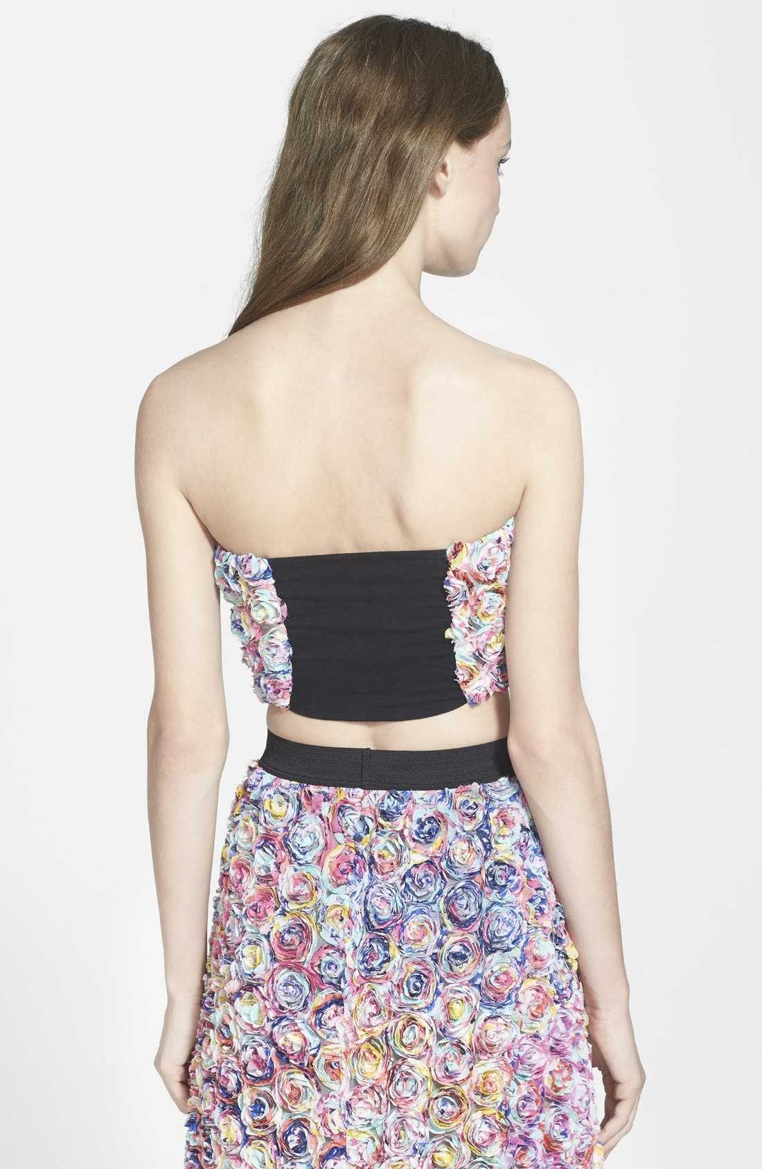 LEITH, Dimensional Floral Tube Top, Alternate thumbnail 2, color, 660