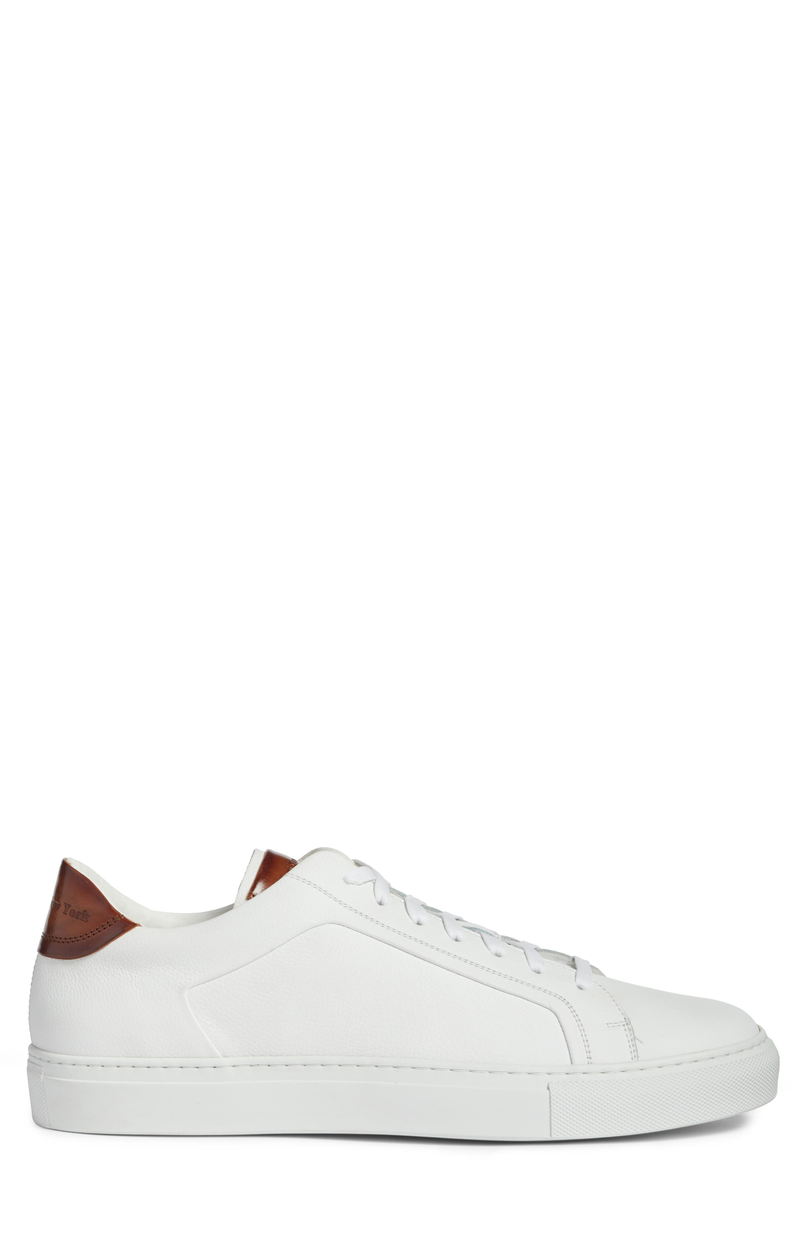 TO BOOT NEW YORK, Carlin Sneaker, Alternate thumbnail 3, color, WHITE/ TAN LEATHER