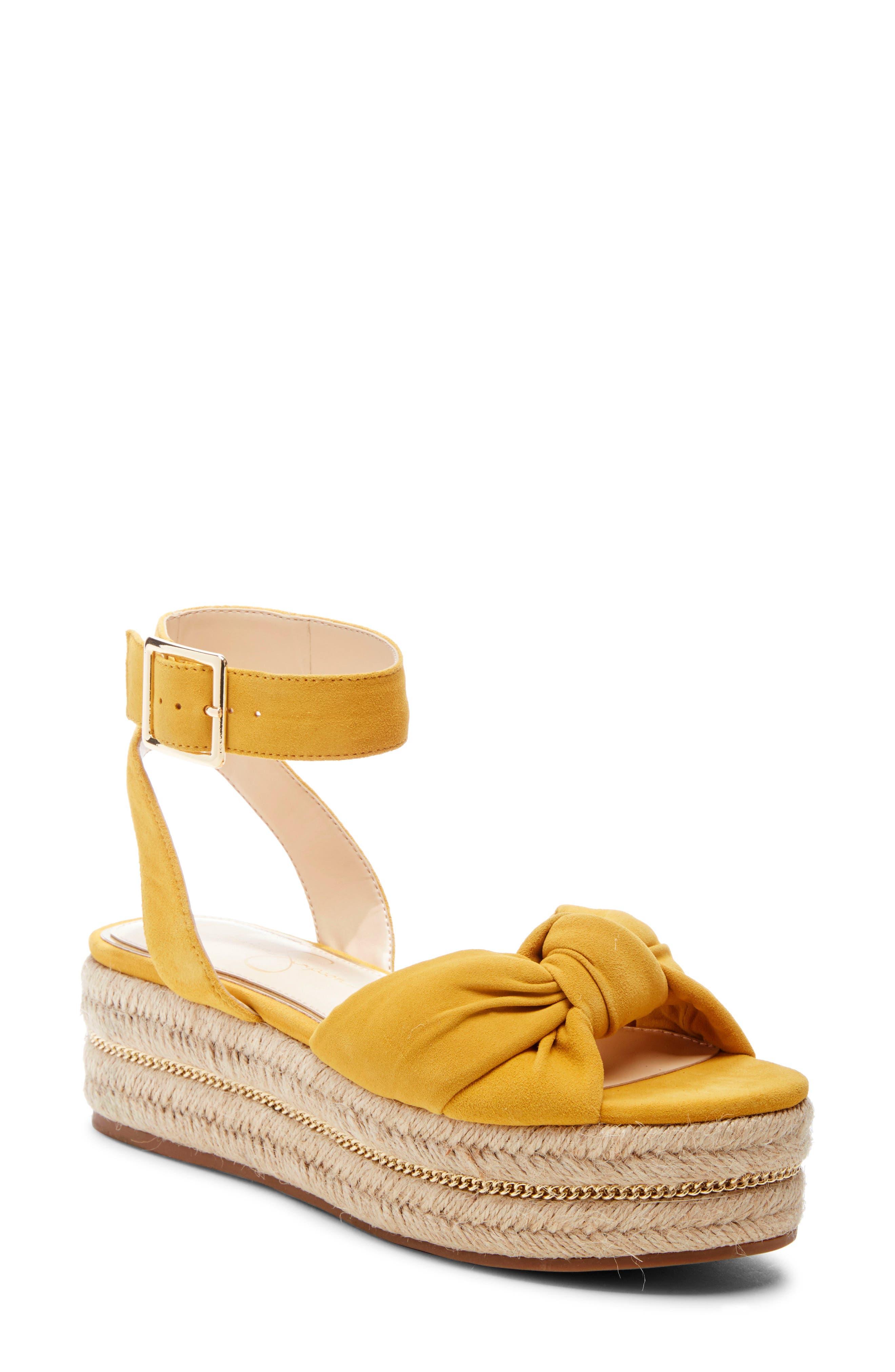 Jessica Simpson Aprille Platform Ankle Strap Sandal- Yellow
