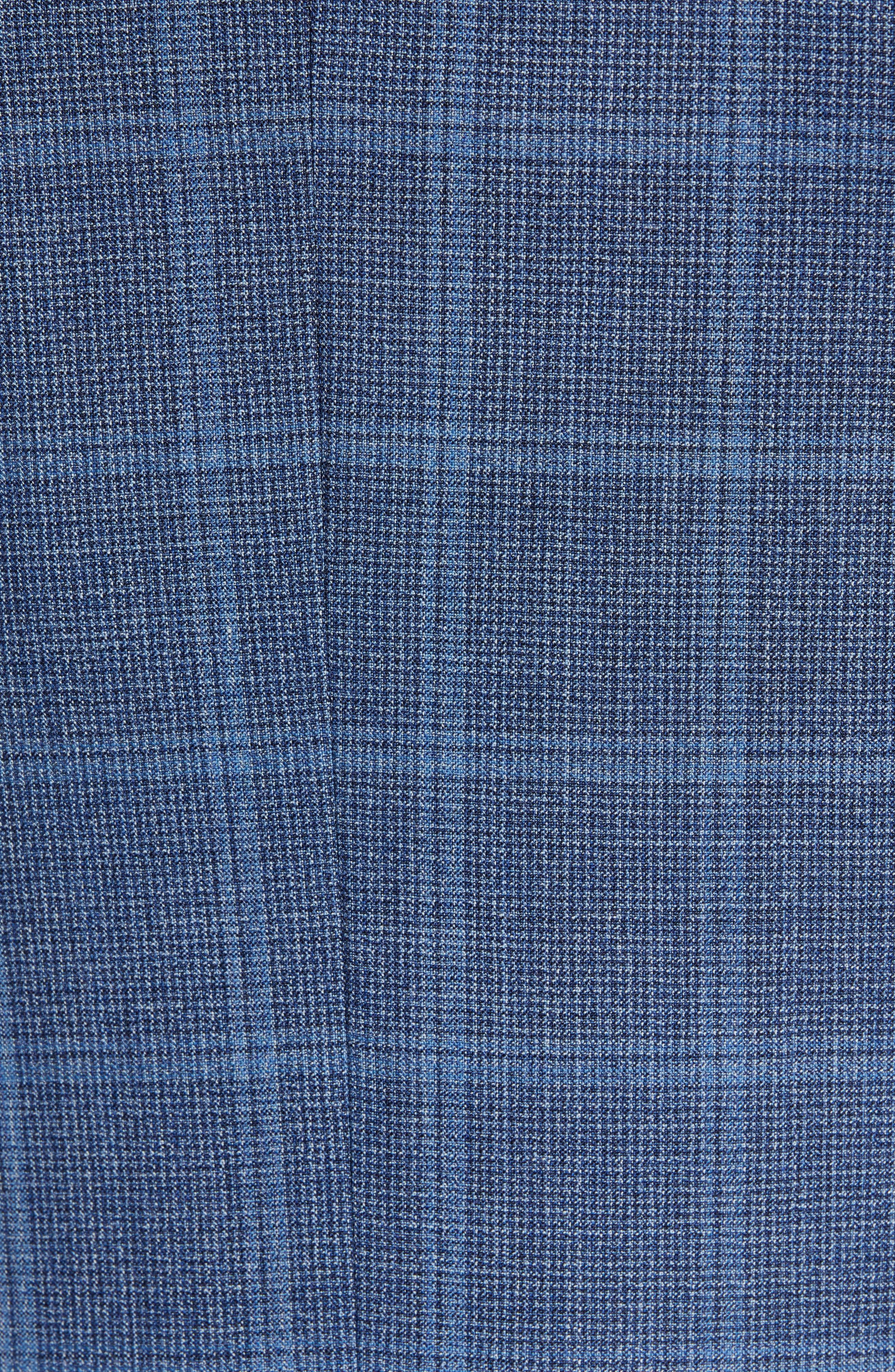 JOHN W. NORDSTROM<SUP>®</SUP>, Traditional Fit Windowpane Wool Sport Coat, Alternate thumbnail 7, color, BLUE DARK NAVY WINDOWPANE
