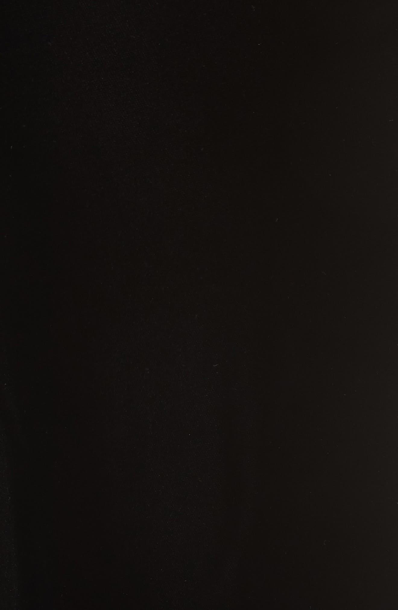 EMPORIO ARMANI, Wide Leg Velvet Pants, Alternate thumbnail 5, color, 004