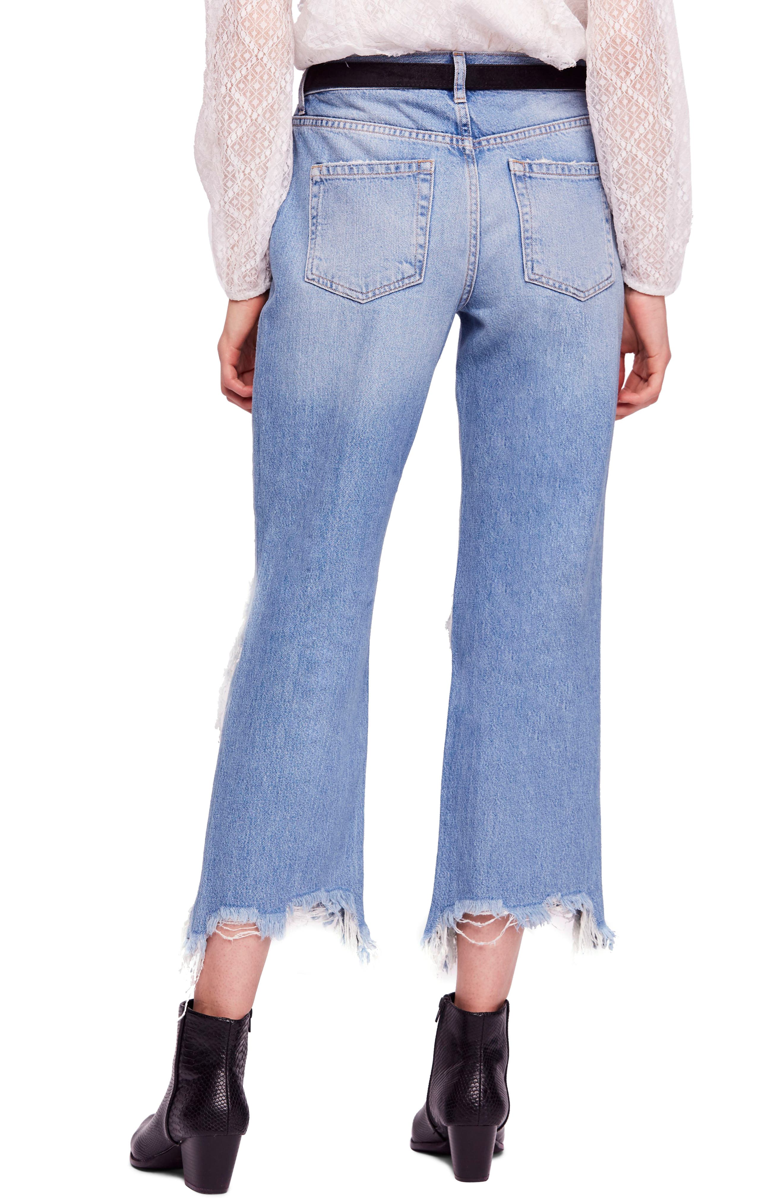 FREE PEOPLE, We the Free by Free People Maggie Ripped Crop Straight Leg Jeans, Alternate thumbnail 2, color, 456