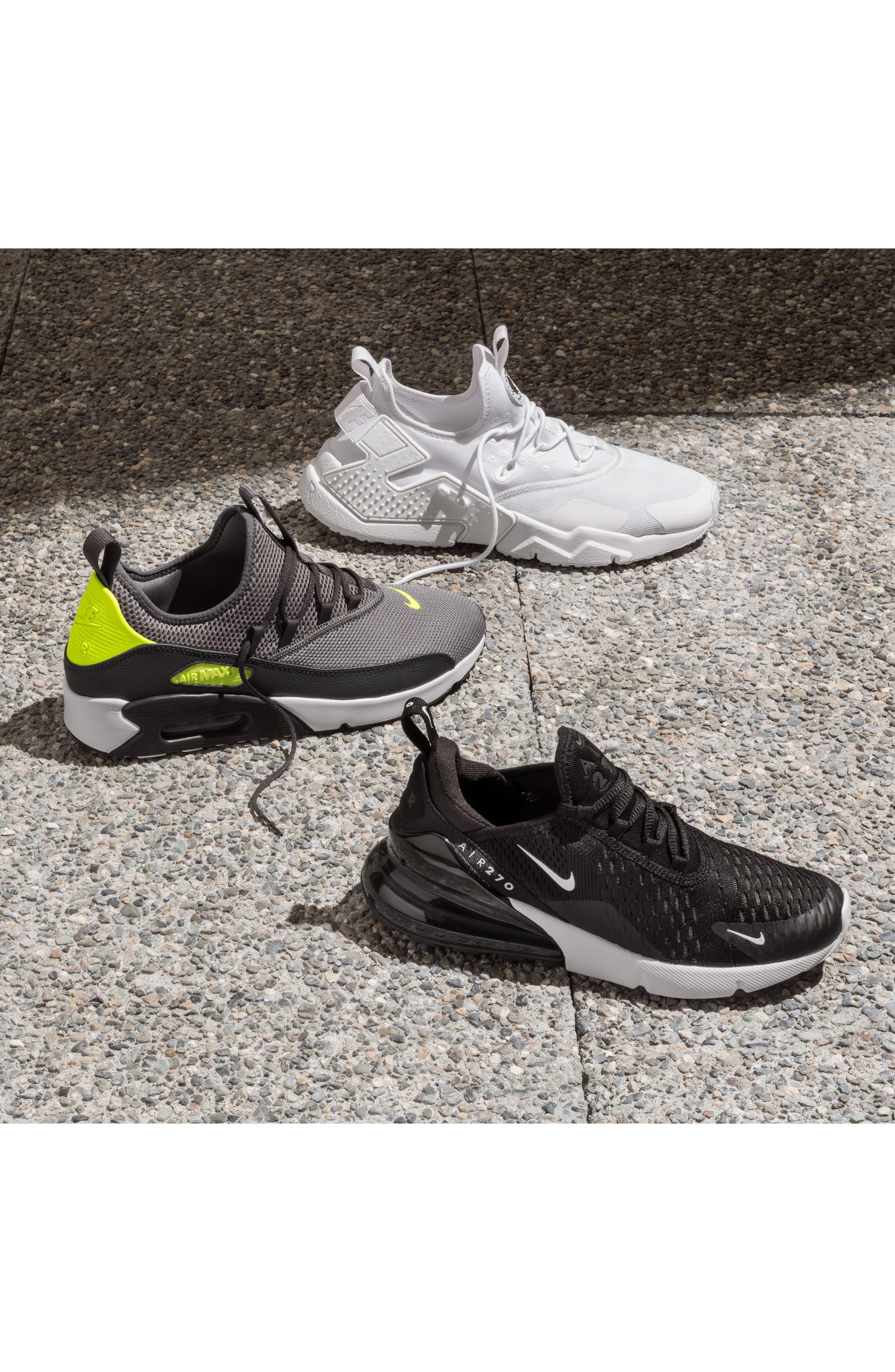 NIKE, Air Max 270 Sneaker, Alternate thumbnail 9, color, WHITE/ VOLT/ BLACK/ FUCHSIA