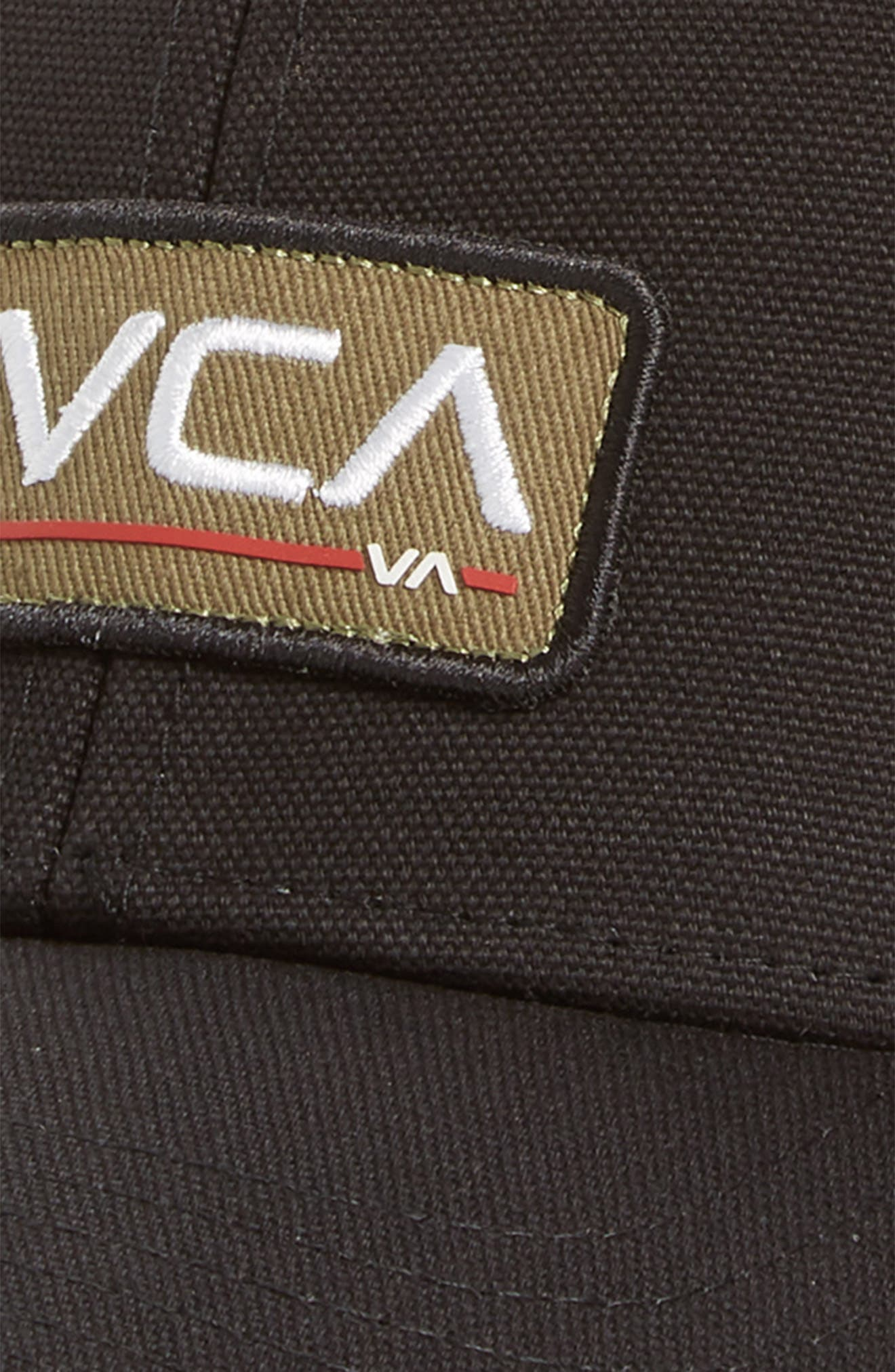 RVCA, Ticket II Trucker Hat, Alternate thumbnail 3, color, BLACK OLIVE