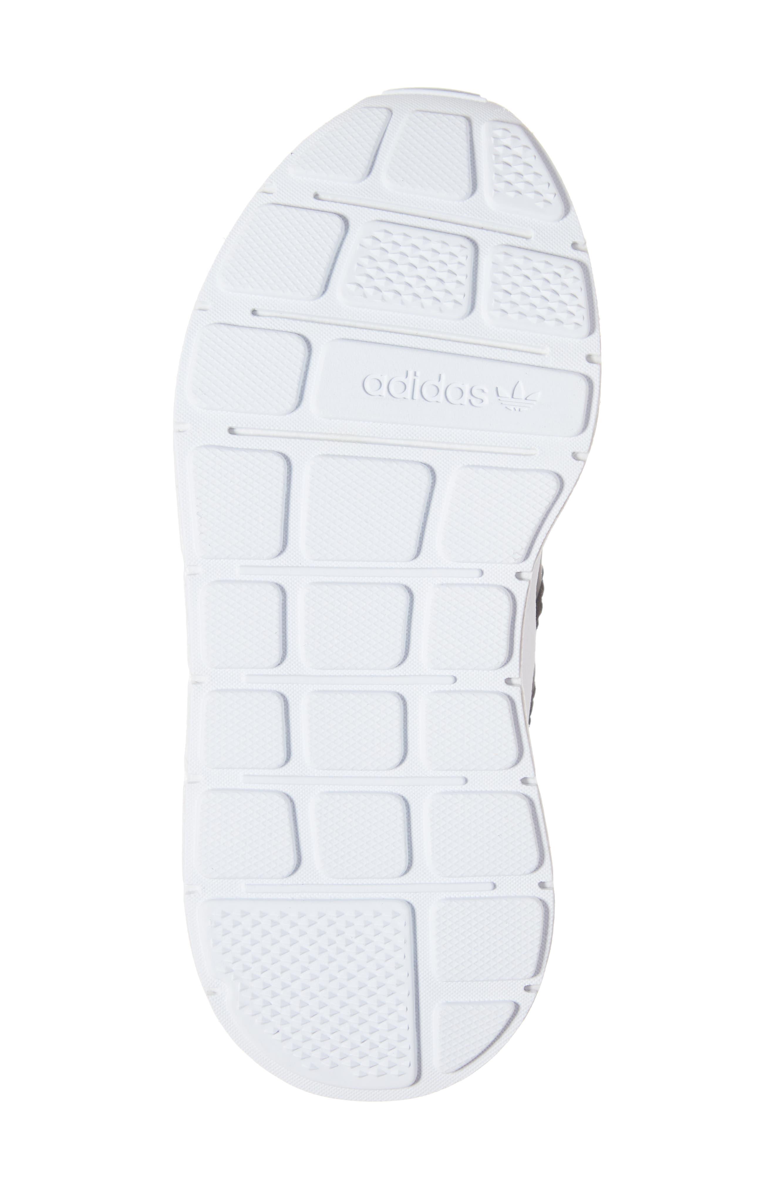 ADIDAS, Swift Run J Sneaker, Alternate thumbnail 6, color, CORE BLACK/ WHITE