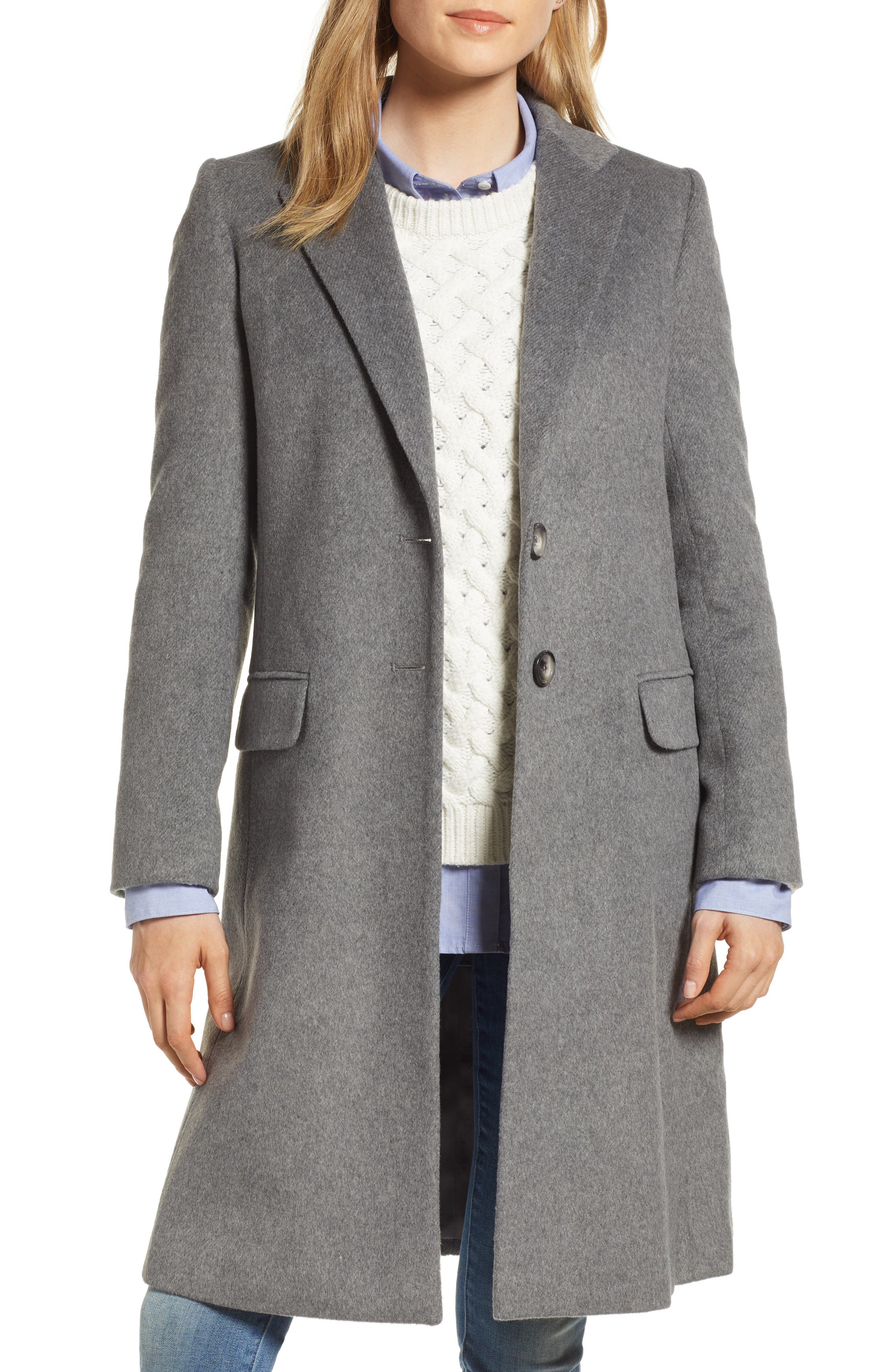 HELENE BERMAN Charles Gray London College Coat, Main, color, 020