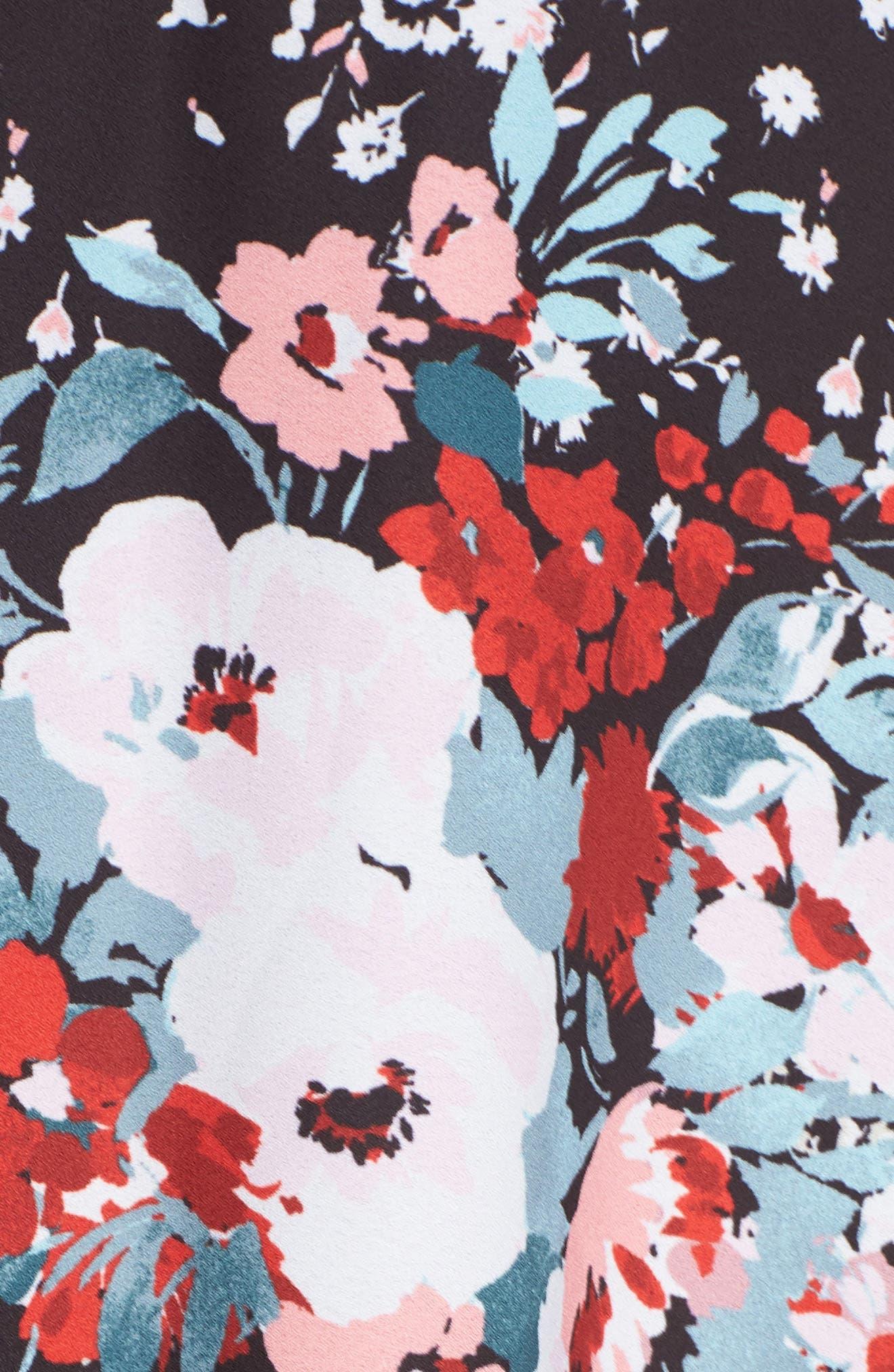JULIA JORDAN, Floral Print Shirtdress, Alternate thumbnail 6, color, 017