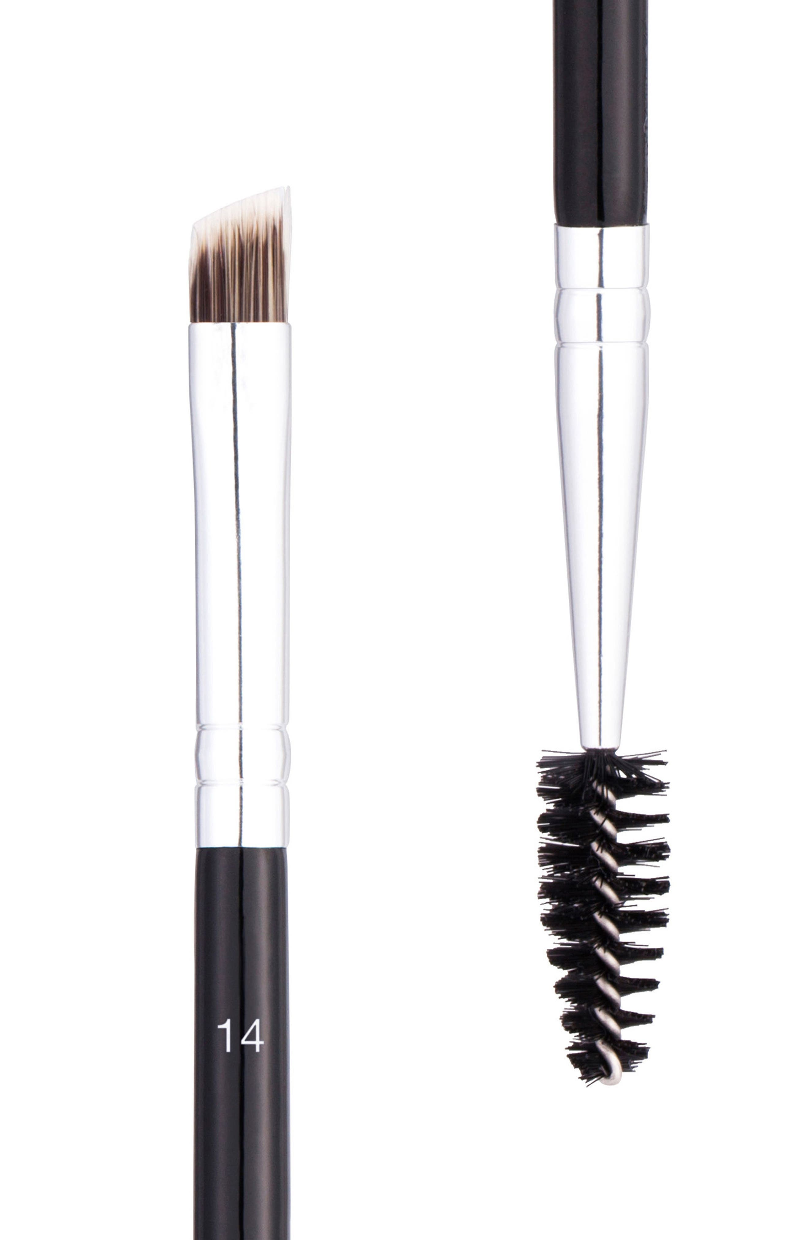 ANASTASIA BEVERLY HILLS, #14 Dual-Sided Brow & Eyeliner Brush, Alternate thumbnail 2, color, NO COLOR