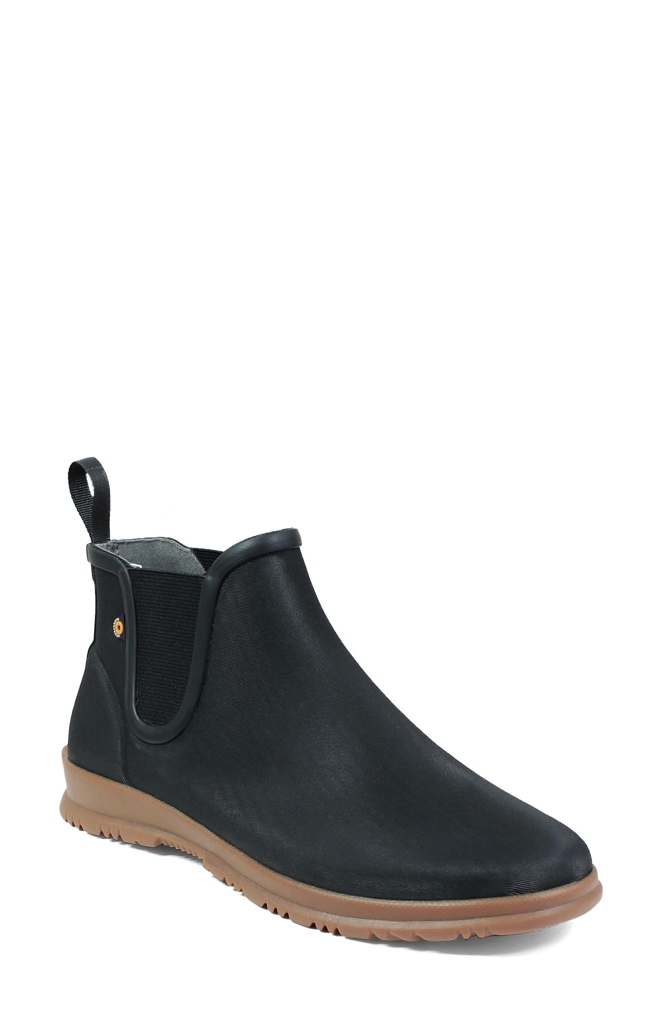BOGS Sweetpea Rain Boot, Main, color, BLACK RUBBER