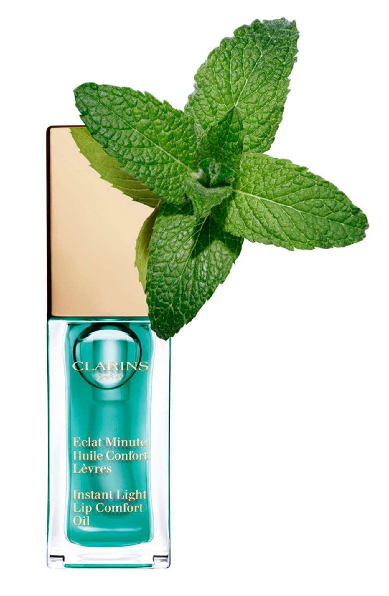 CLARINS, Instant Light Lip Comfort Oil, Alternate thumbnail 5, color, 06 MINT