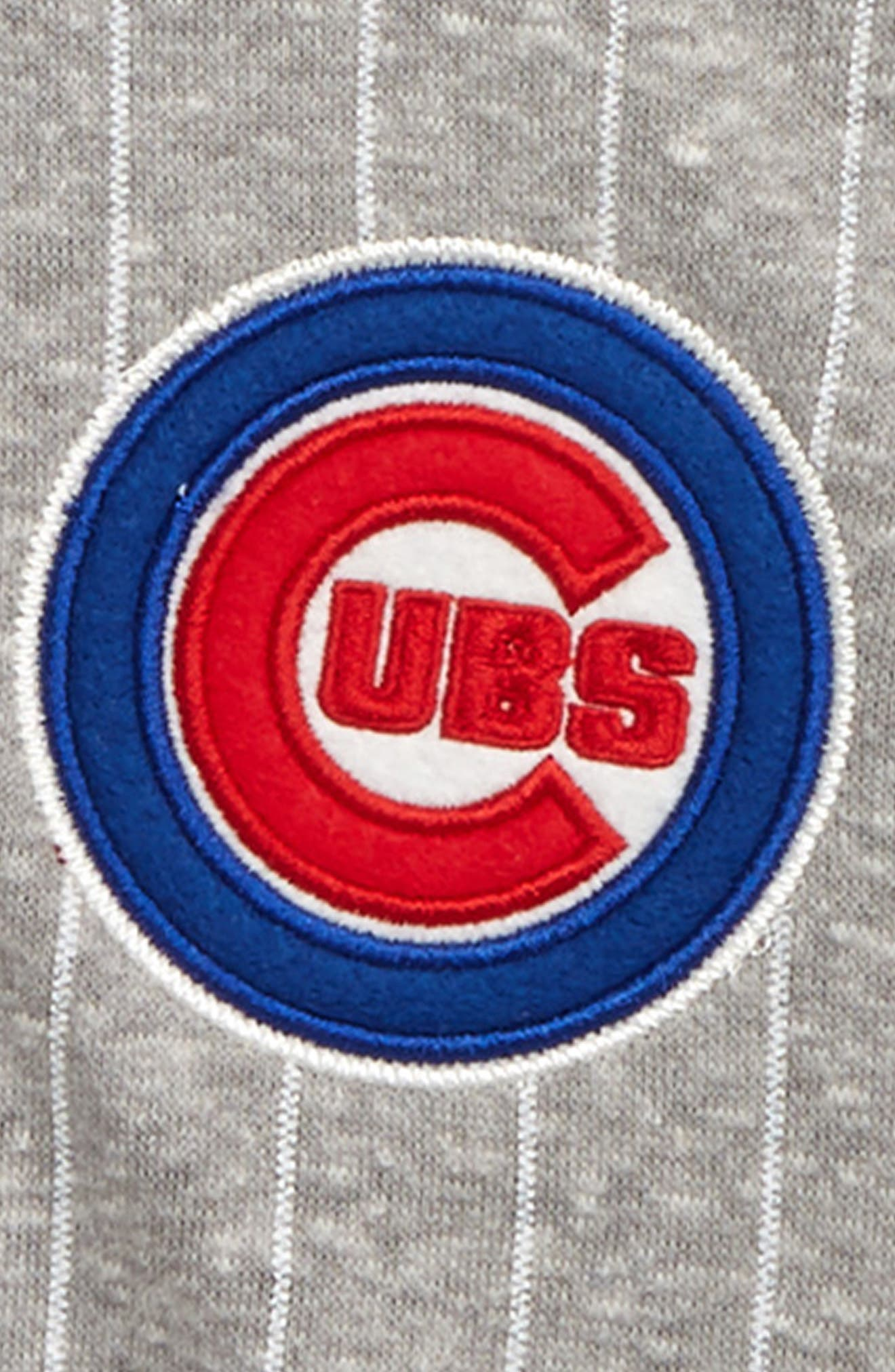MAJESTIC MLB, Chicago Cubs Pride Fleece Bomber Jacket, Alternate thumbnail 2, color, ROYAL BLUE