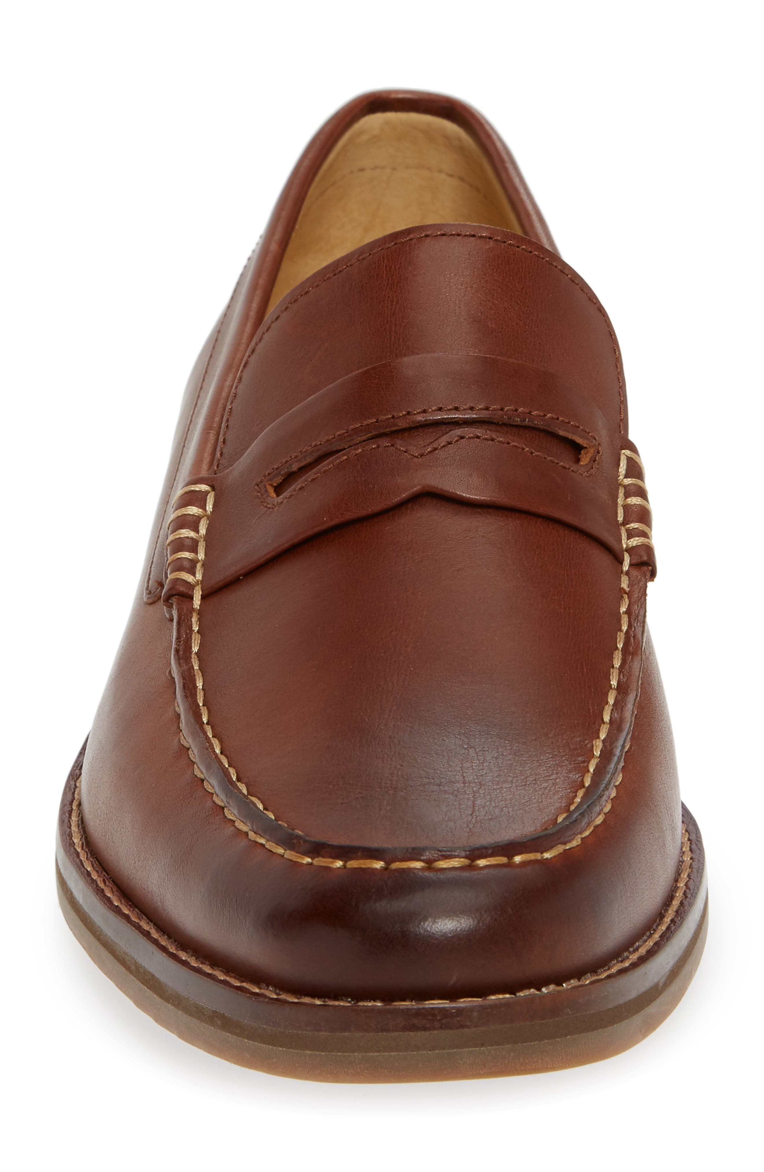 SPERRY, Gold Cup Exeter Penny Loafer, Alternate thumbnail 4, color, TAN