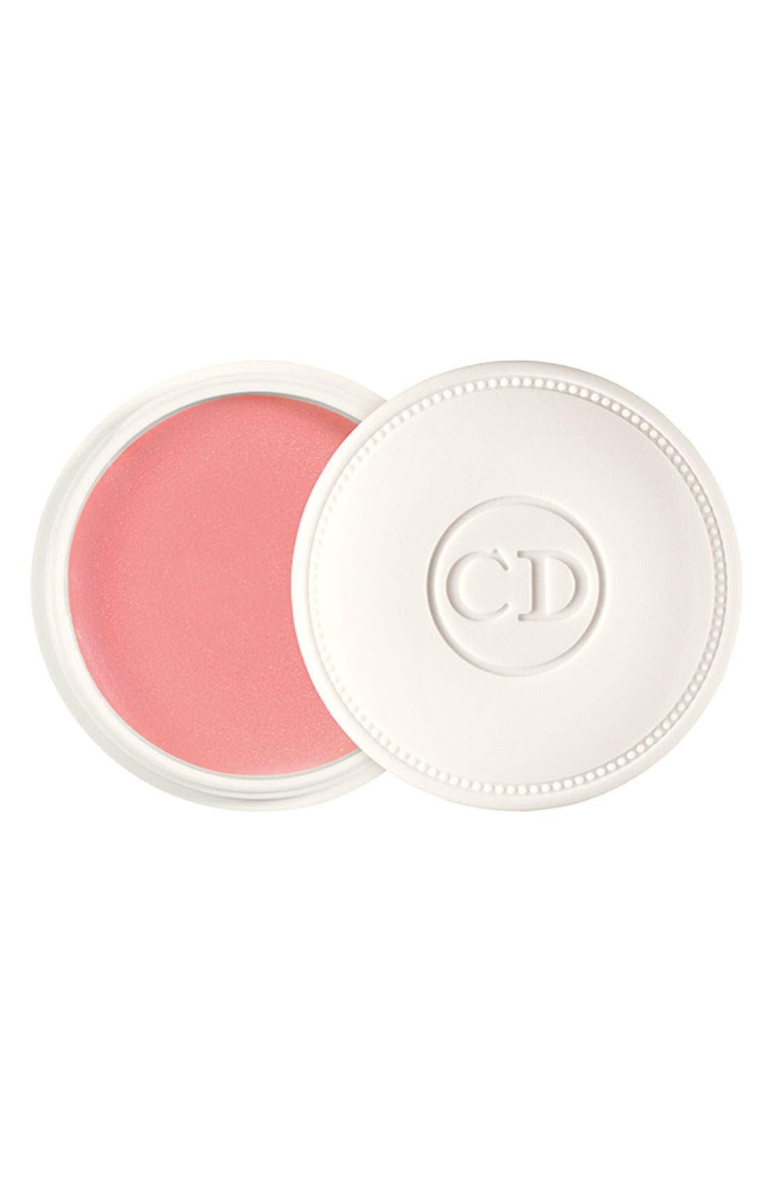 DIOR, 'Crème de Rose' Smoothing Plumping Lip Balm SPF 10, Main thumbnail 1, color, 000
