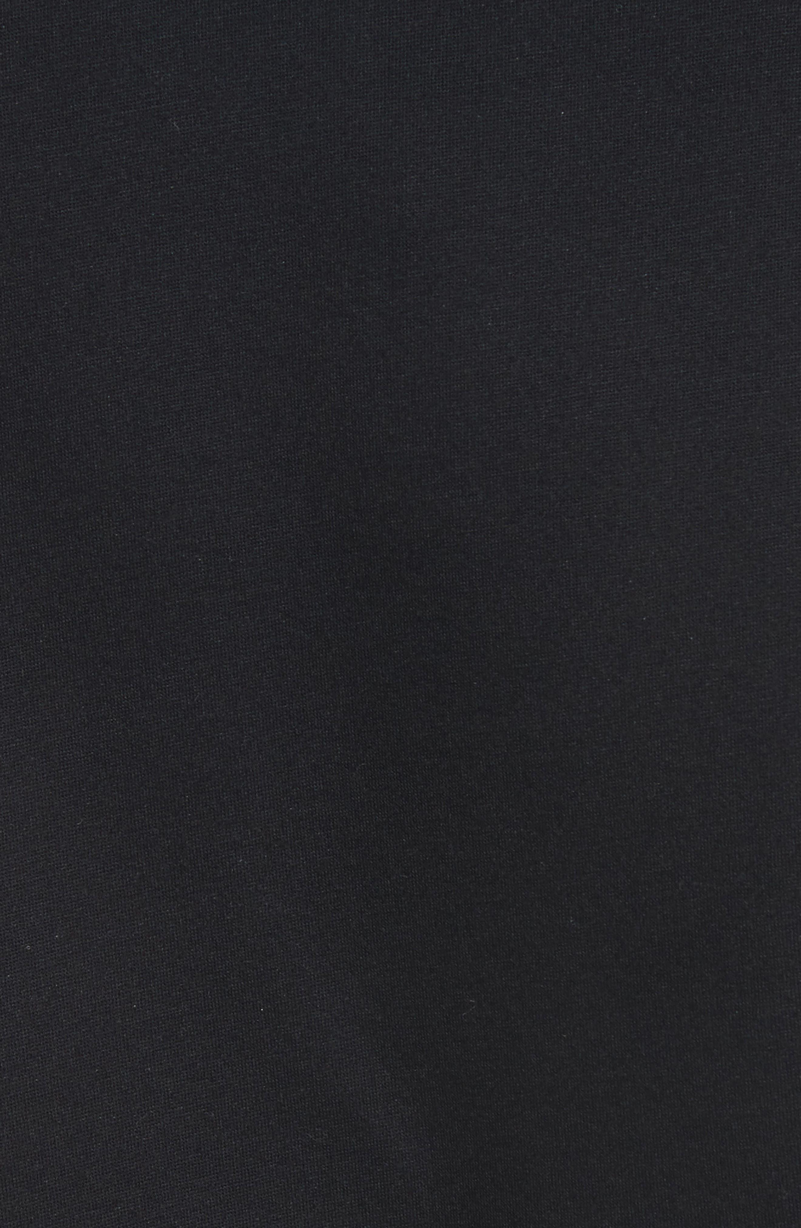 MONCLER, Down Quilted Fleece Vest, Alternate thumbnail 6, color, 001
