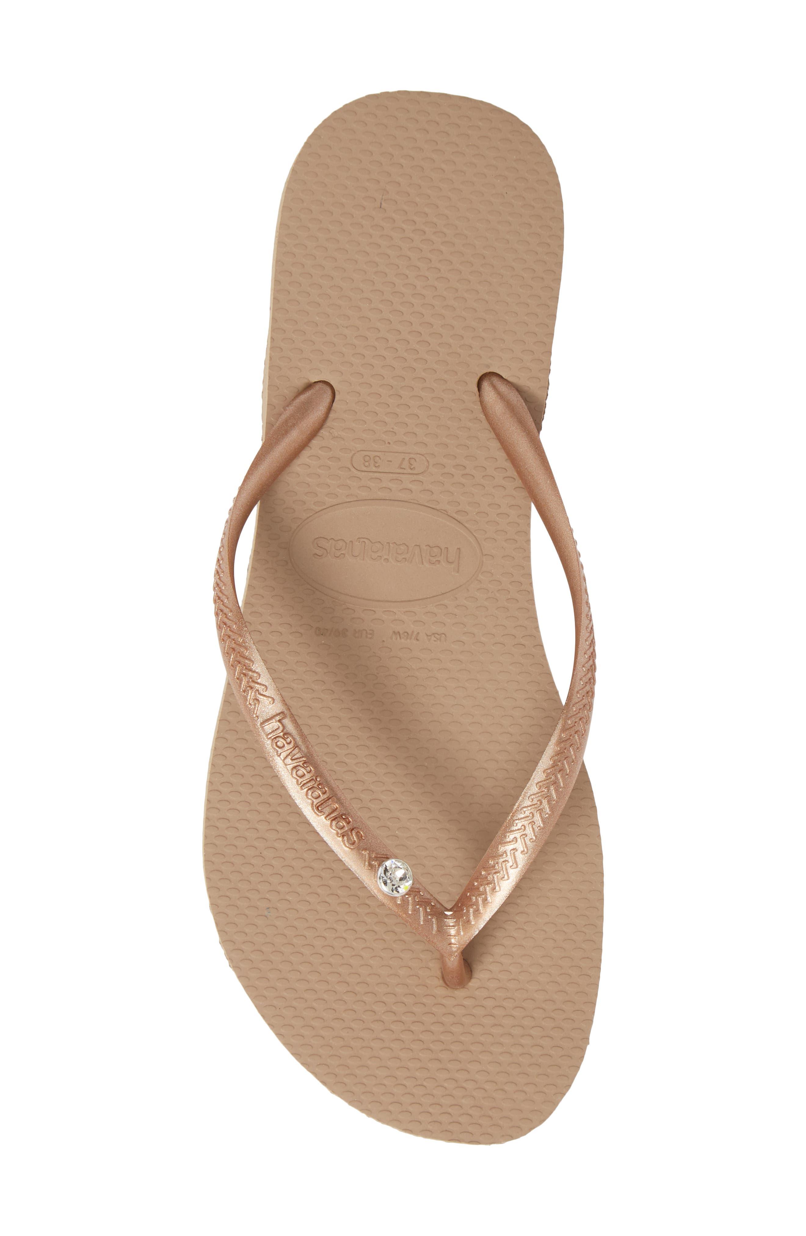 39bc77ccf Havaianas  Slim Crystal Glamour  Flip Flop - Metallic