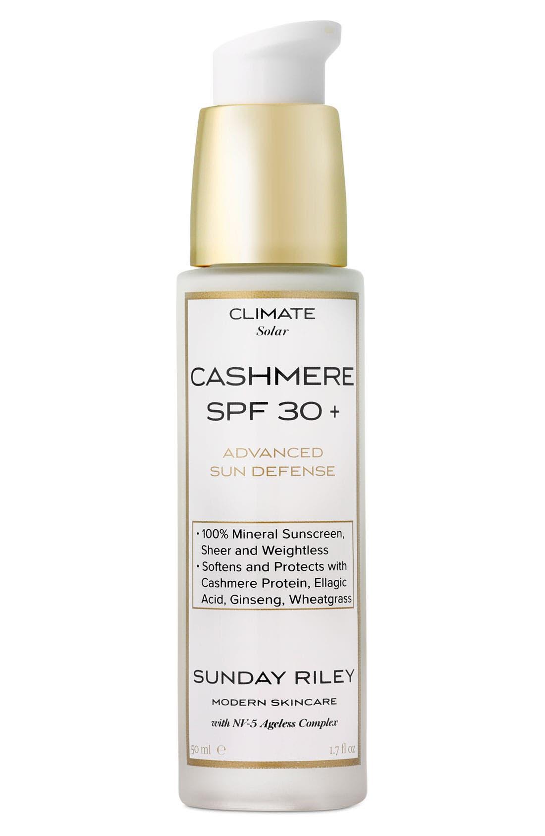 SUNDAY RILEY, Cashmere SPF 30+ Advanced Sun Defense, Main thumbnail 1, color, 000