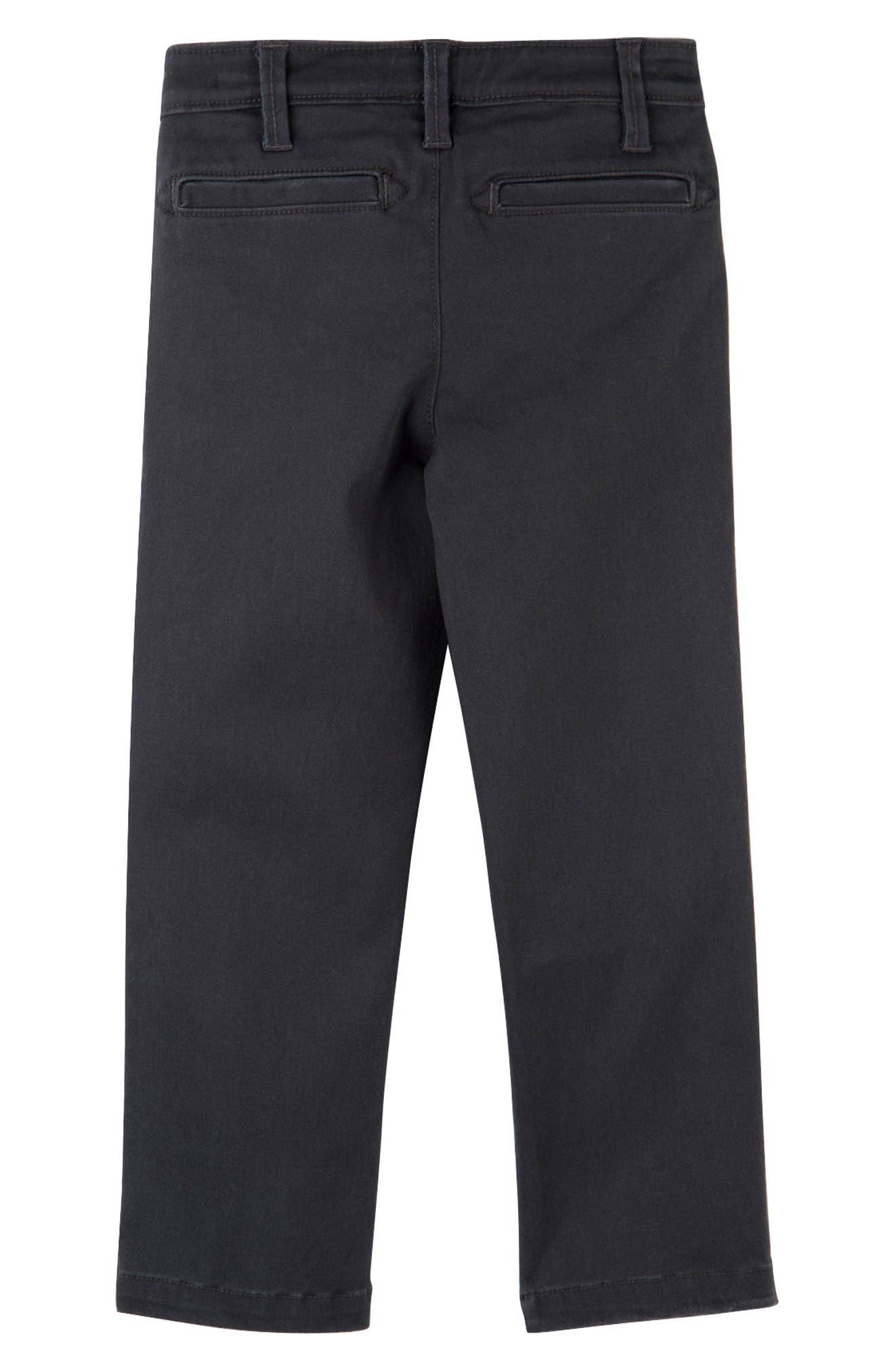HATLEY, Stretch Cotton Twill Pants, Alternate thumbnail 2, color, 020