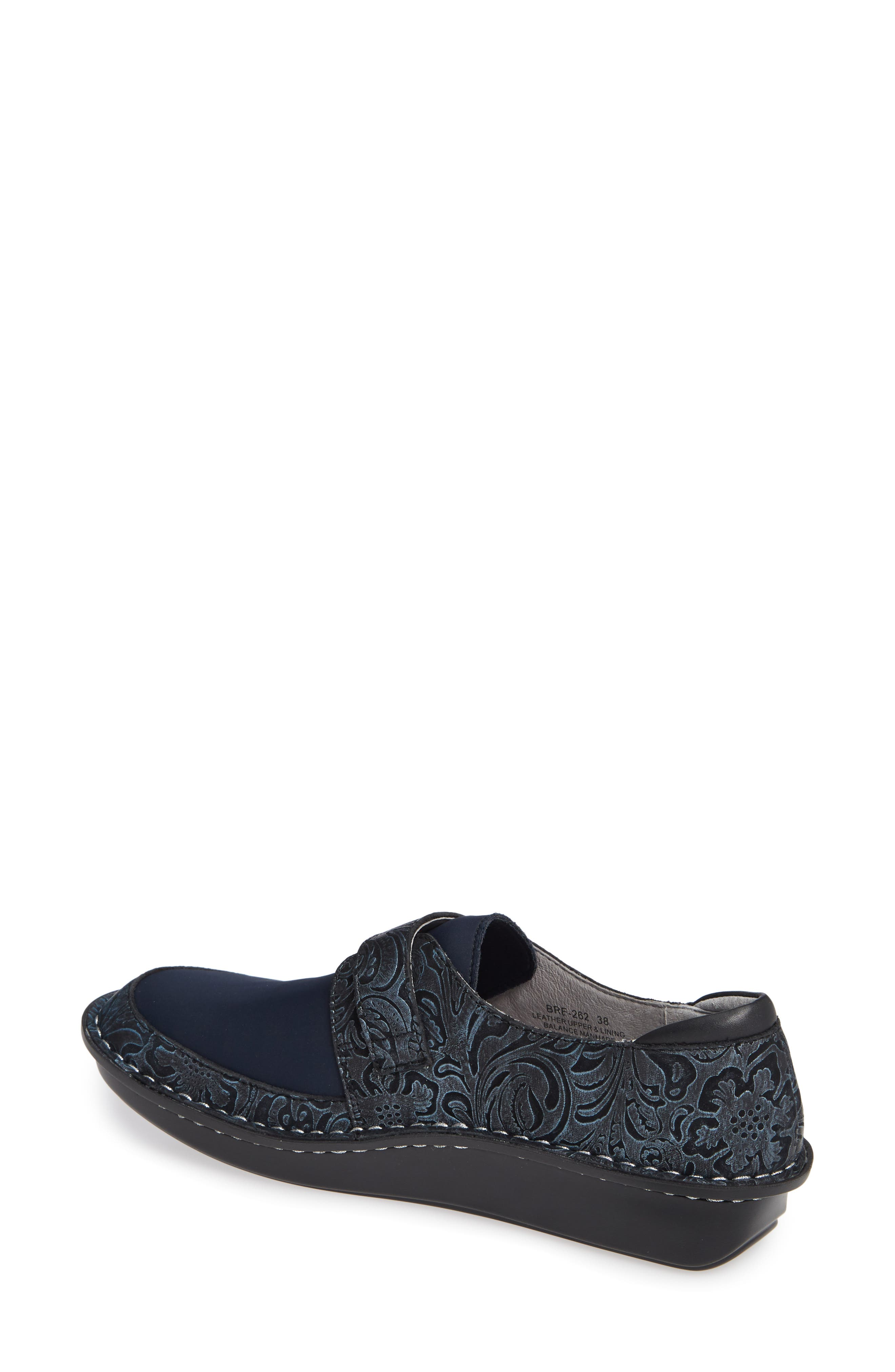 ALEGRIA, Brenna Slip-On, Alternate thumbnail 2, color, NAVY SWISH LEATHER
