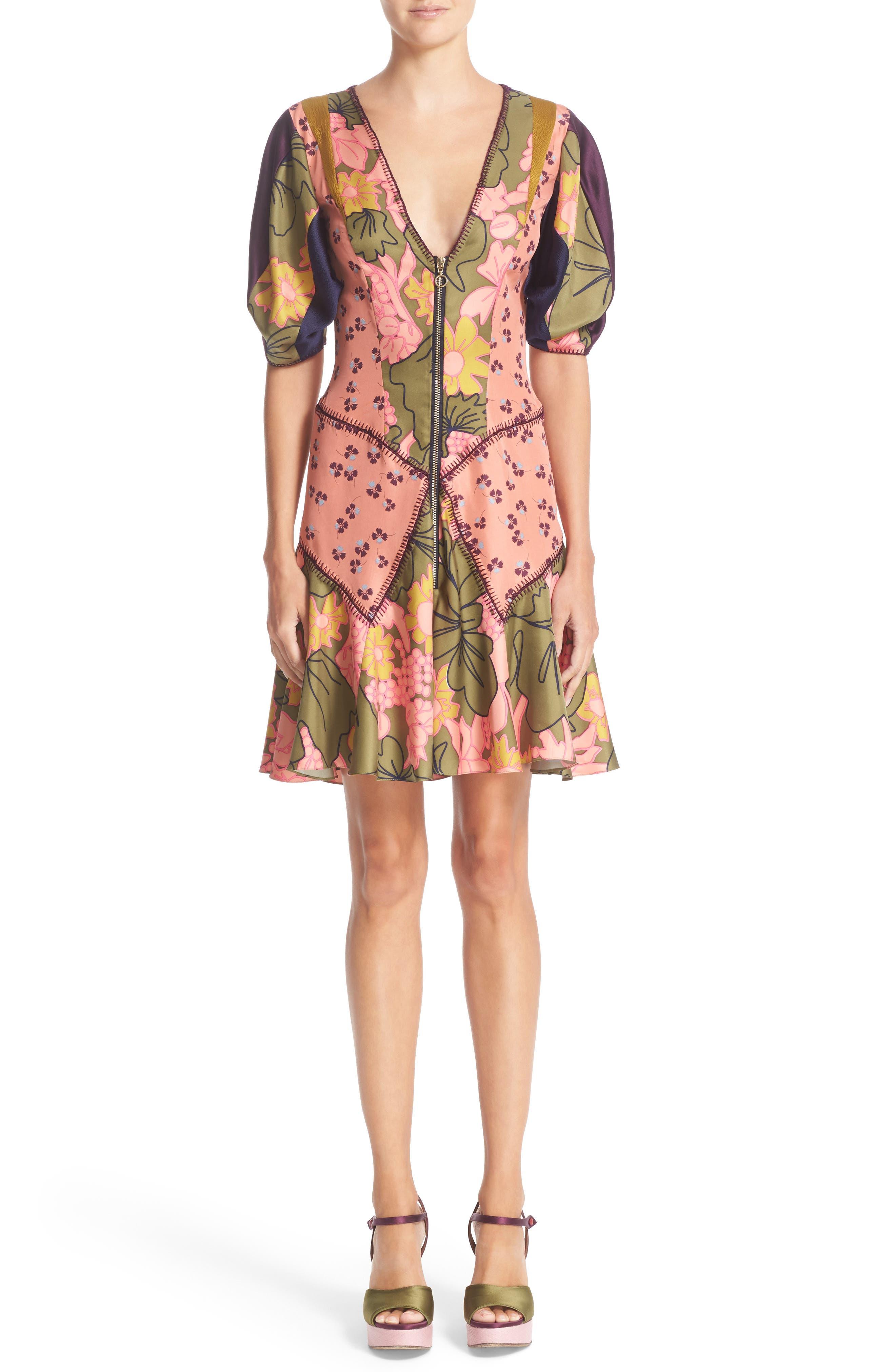 ROKSANDA, Hirani Dress, Main thumbnail 1, color, 695