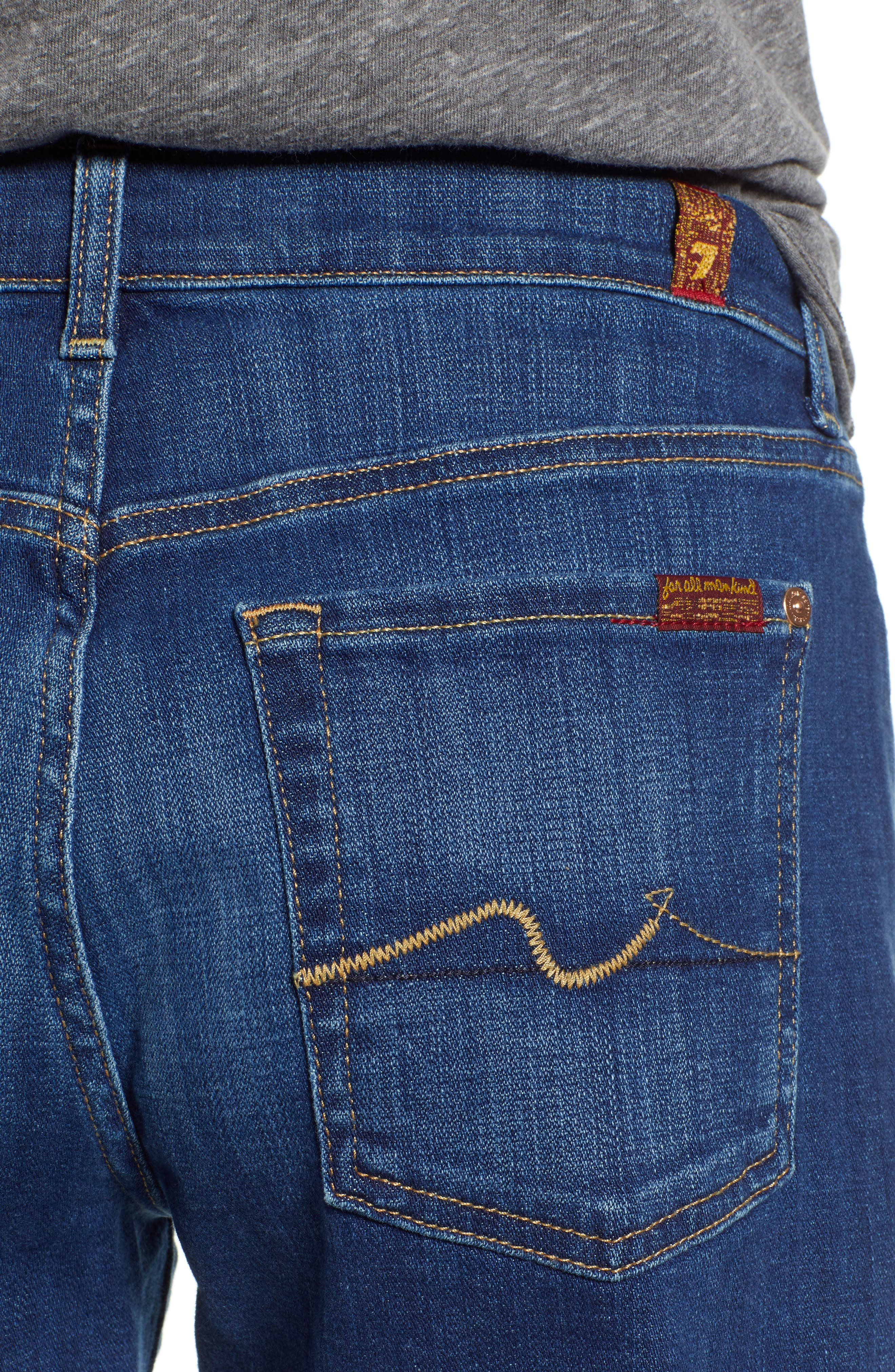 7 FOR ALL MANKIND<SUP>®</SUP>, Roll Cuff Denim Shorts, Alternate thumbnail 5, color, BROKEN TWILL VANITY CLEAN