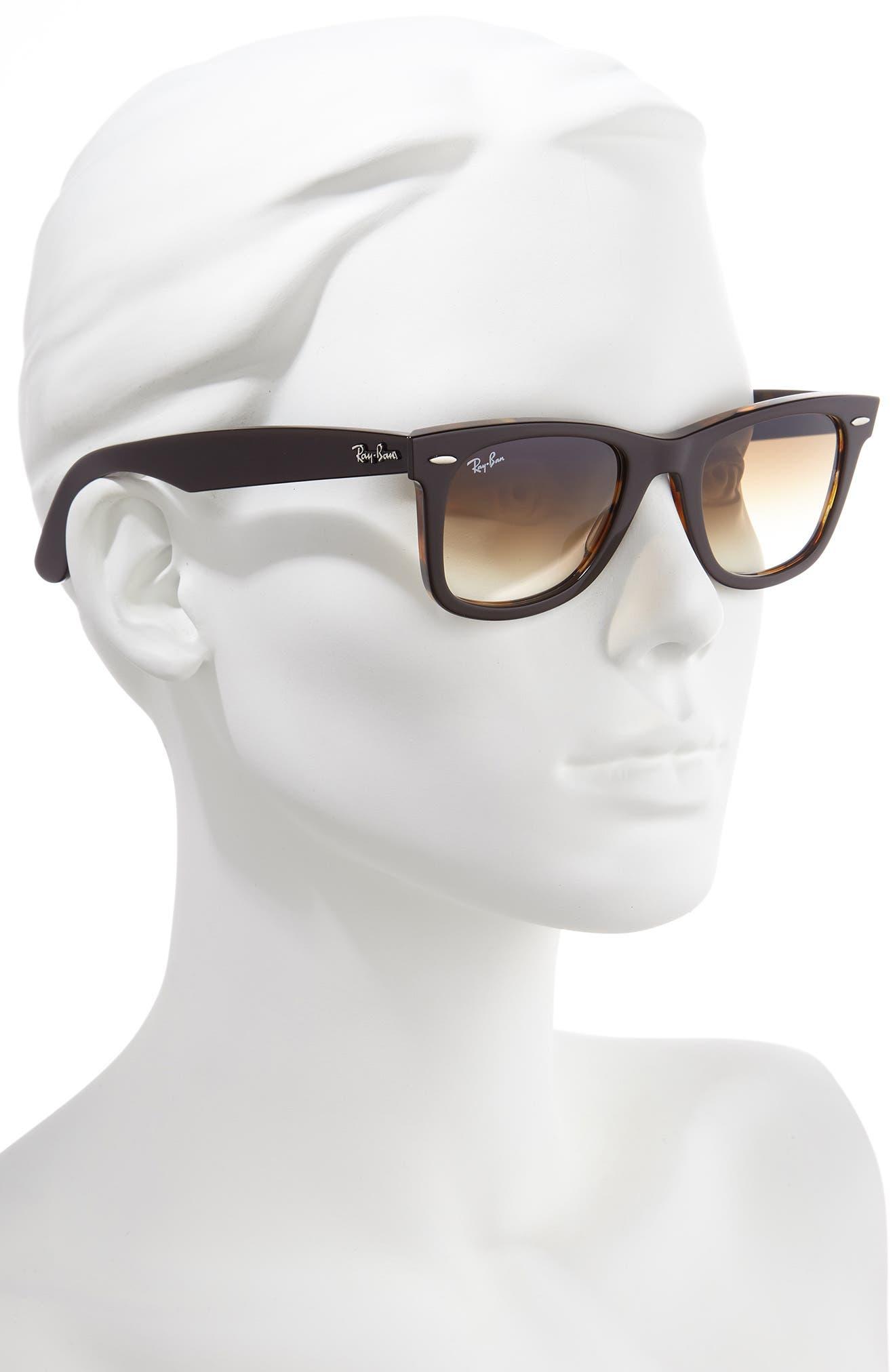 RAY-BAN, 'Classic Wayfarer' 50mm Sunglasses, Alternate thumbnail 2, color, BROWN/ YELLOW GRADIENT