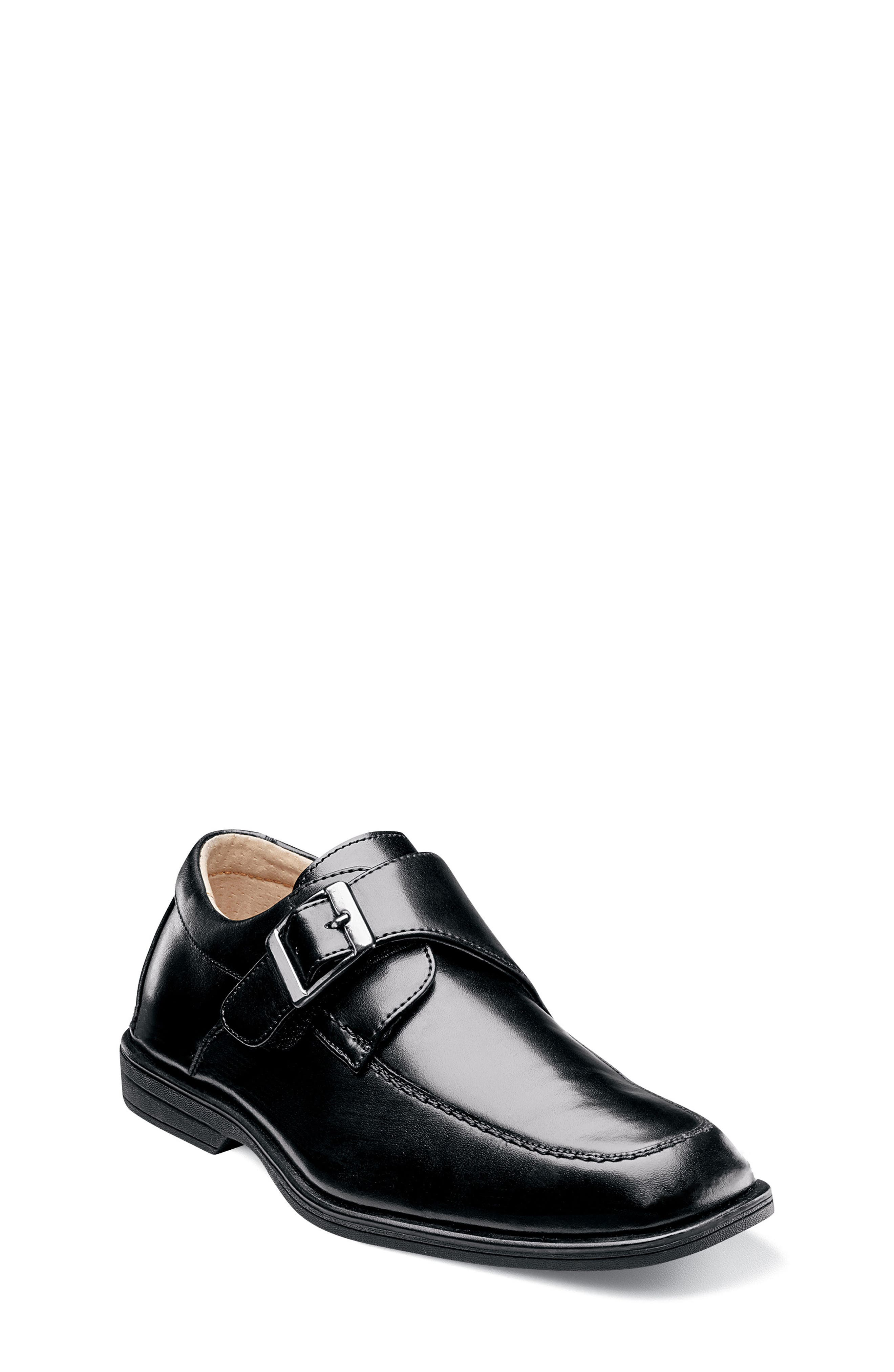 FLORSHEIM 'Reveal' Monk Strap Slip-On, Main, color, BLACK
