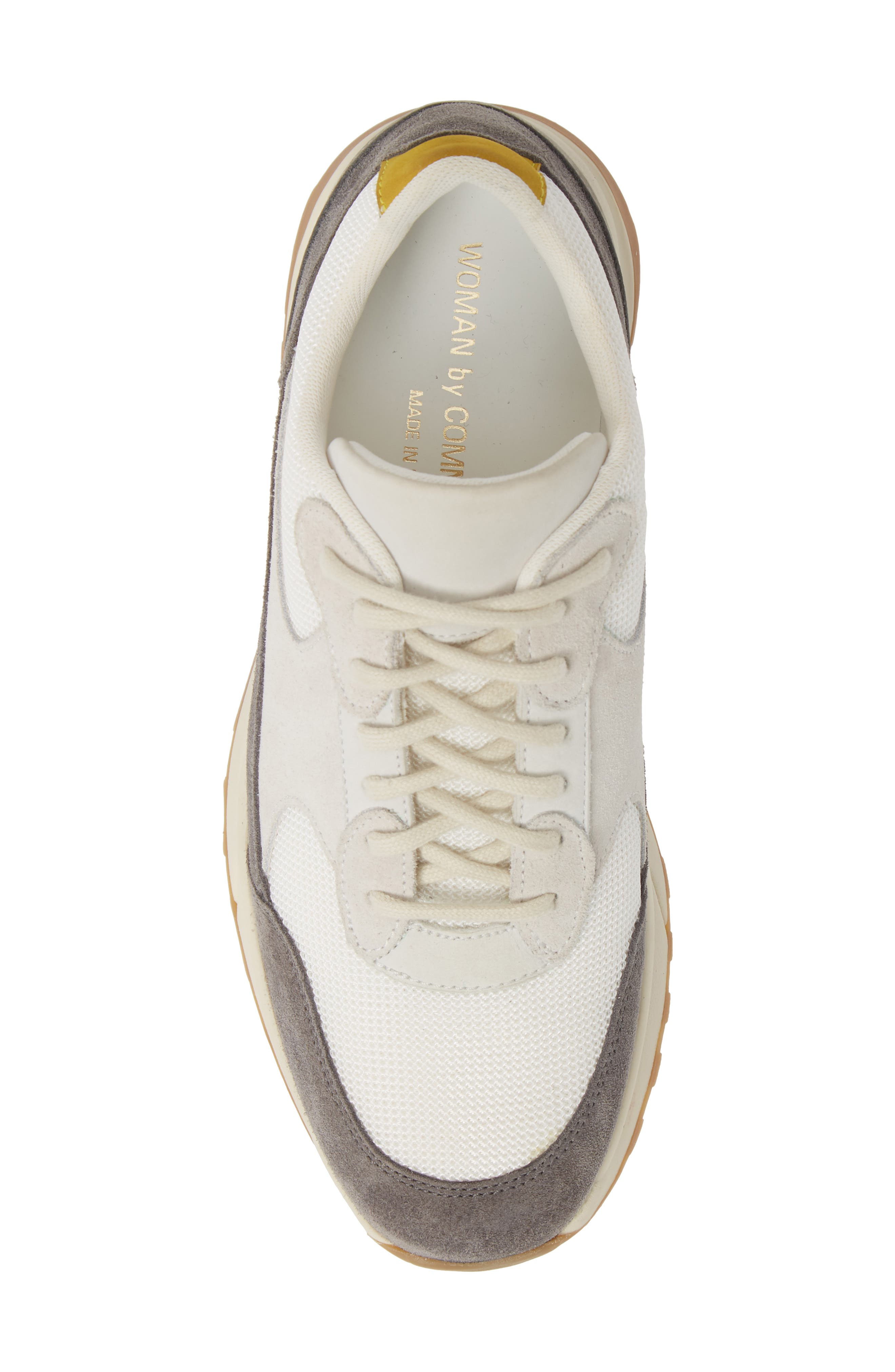 COMMON PROJECTS, New Track Sneaker, Alternate thumbnail 5, color, WHITE/ GREY