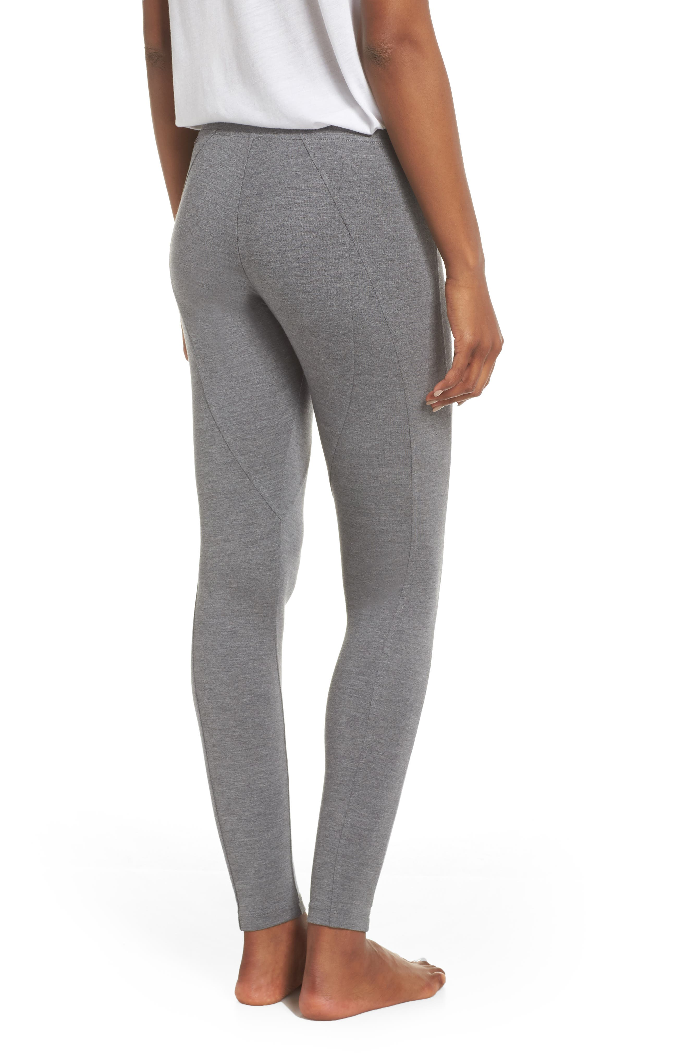 UGG<SUP>®</SUP>, 'Watts' Terry Leggings, Alternate thumbnail 2, color, CHARCOAL HEATHER