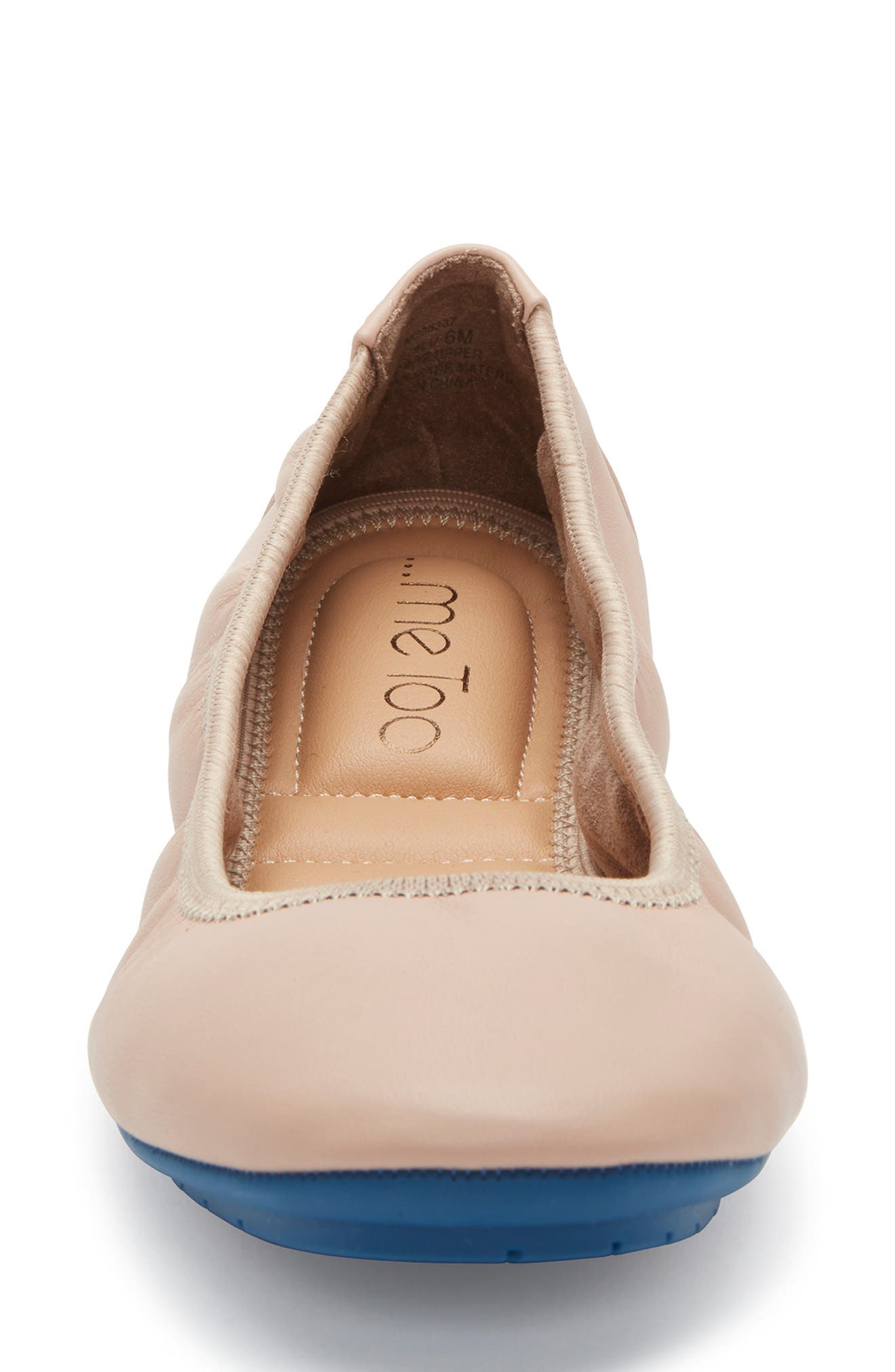ME TOO, 'Tru Blu' Flat, Alternate thumbnail 4, color, LIGHT NUDE LEATHER