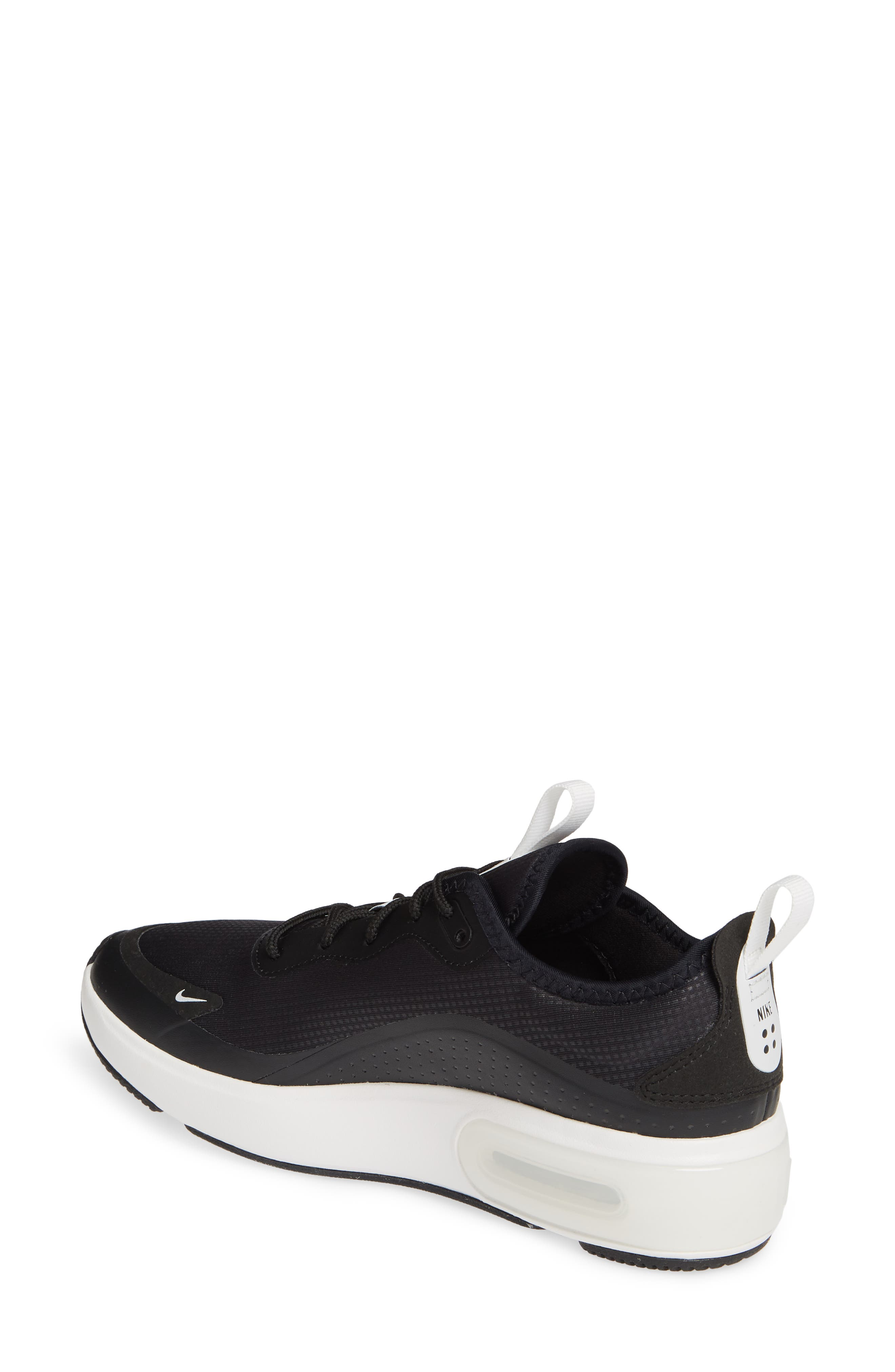 NIKE, Air Max Dia Sneaker, Alternate thumbnail 2, color, BLACK/ SUMMIT WHITE