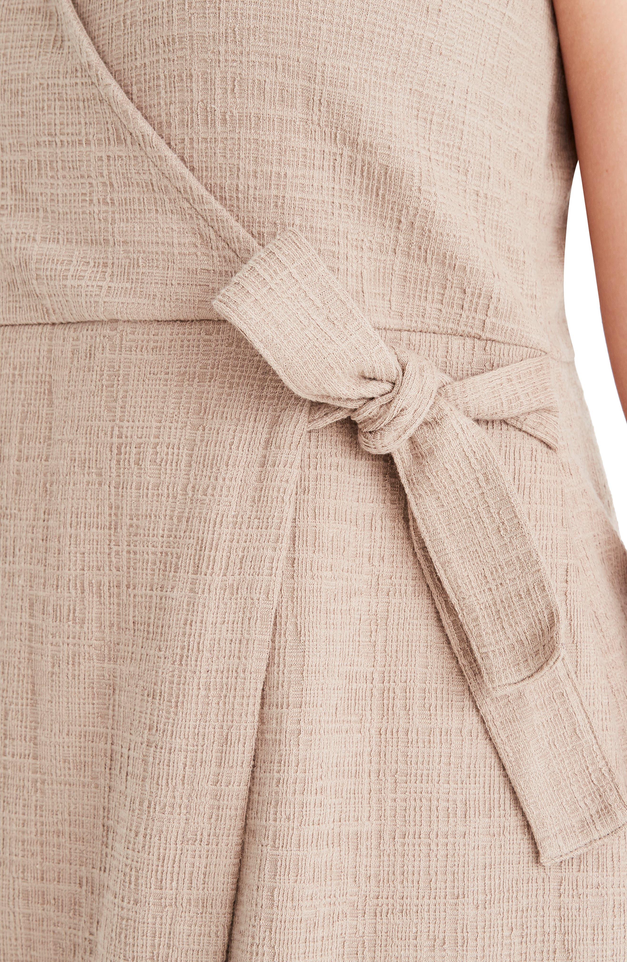 MADEWELL, Texture & Thread Side Tie Minidress, Alternate thumbnail 10, color, TELLURIDE STONE