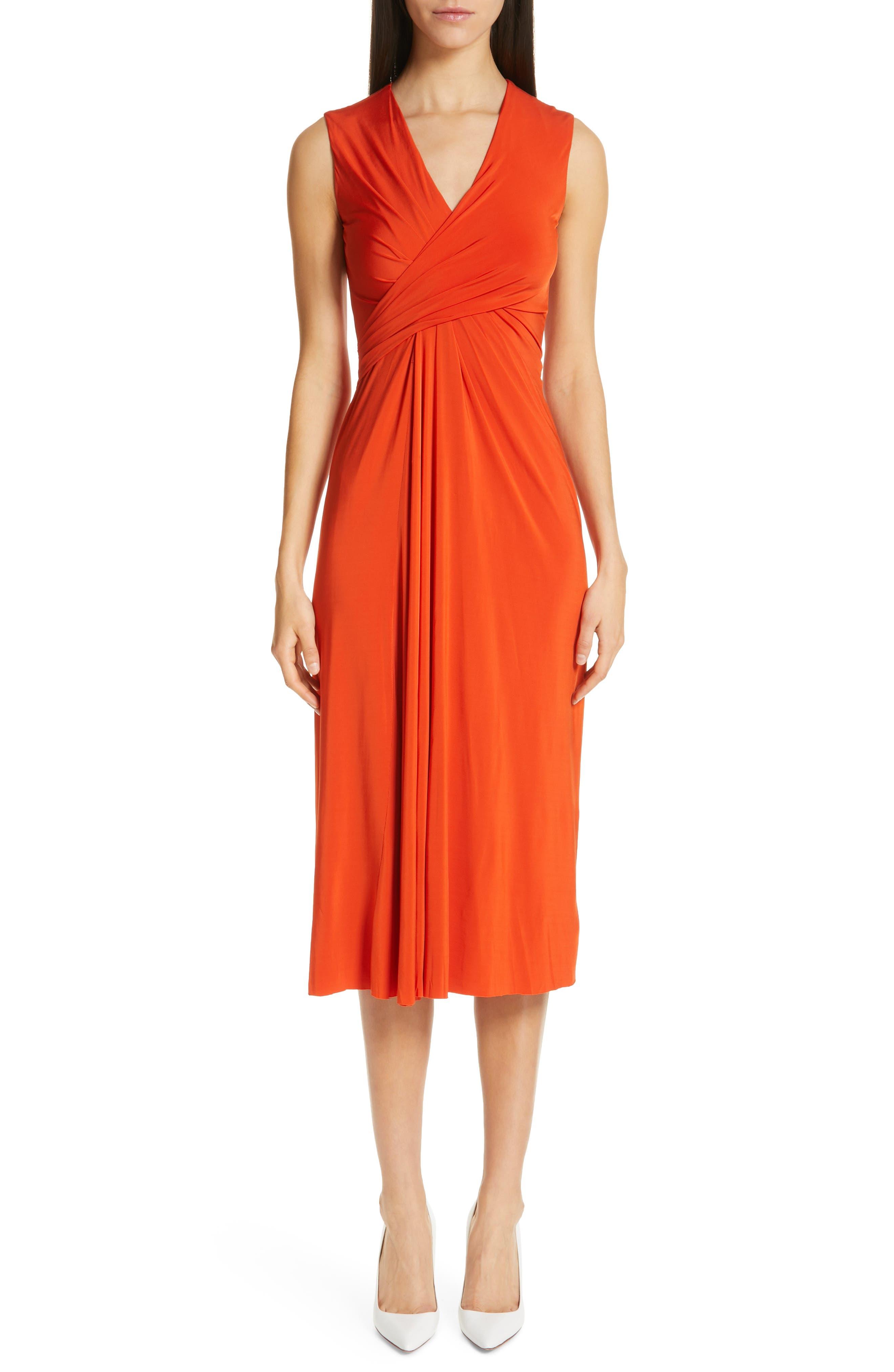 Jason Wu Collection Draped Jersey Dress, Orange