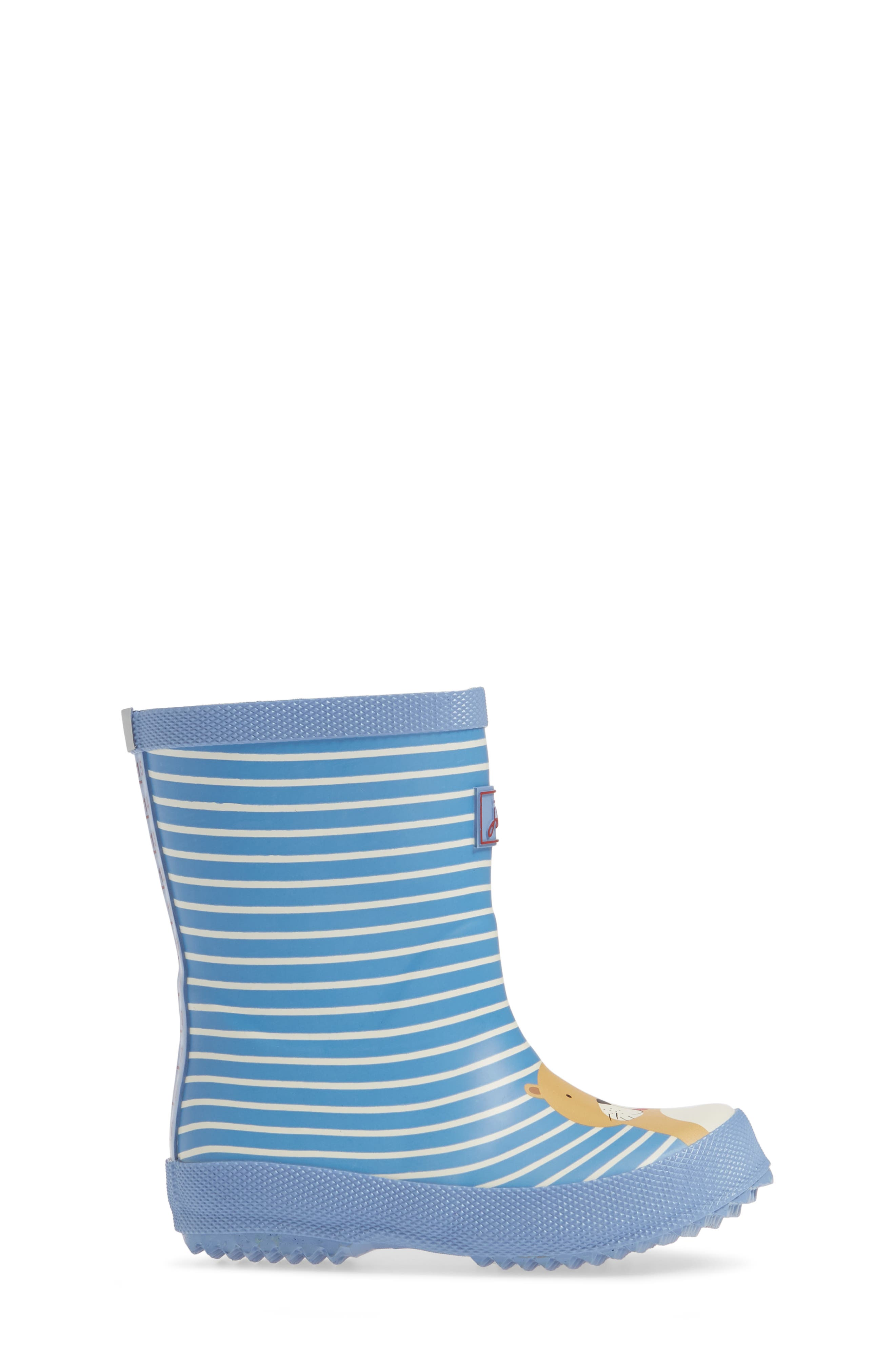 JOULES, Print Welly Rain Boot, Alternate thumbnail 3, color, 430