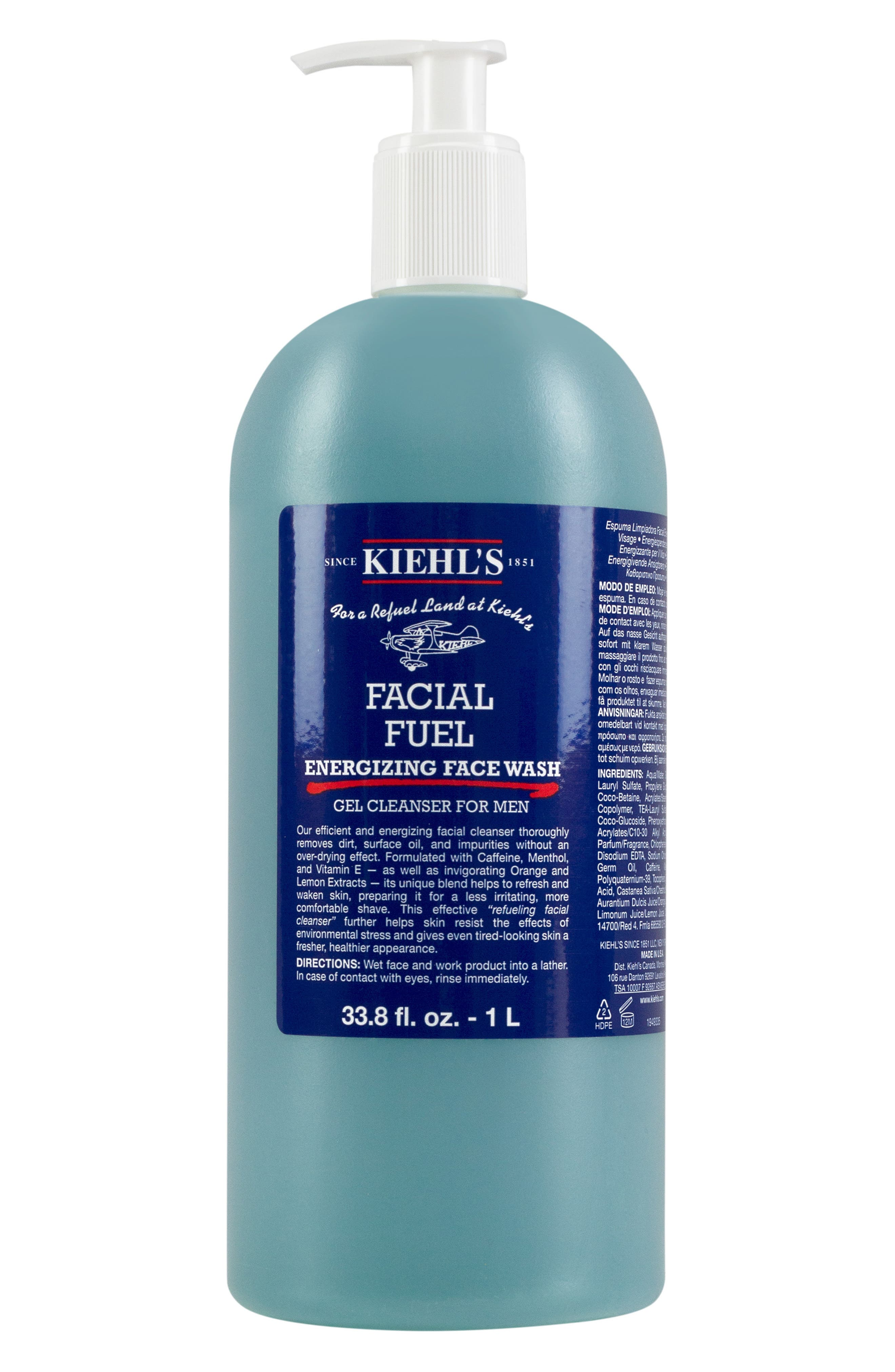 KIEHL'S SINCE 1851, Jumbo Facial Fuel Energizing Face Wash, Alternate thumbnail 4, color, NO COLOR