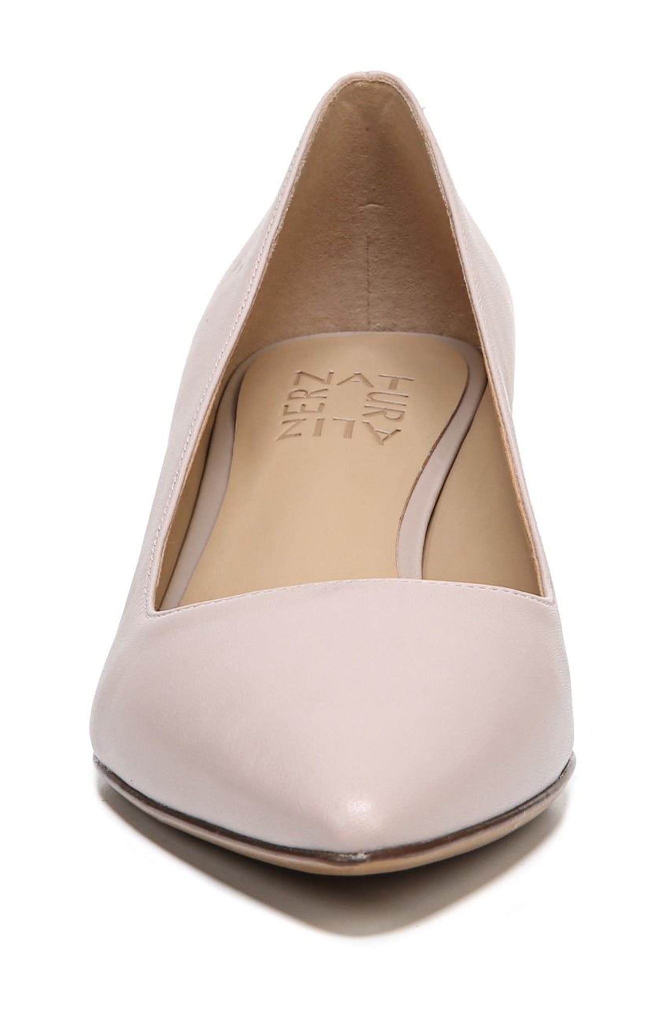 NATURALIZER, Pippa Pump, Alternate thumbnail 4, color, GREY LEATHER