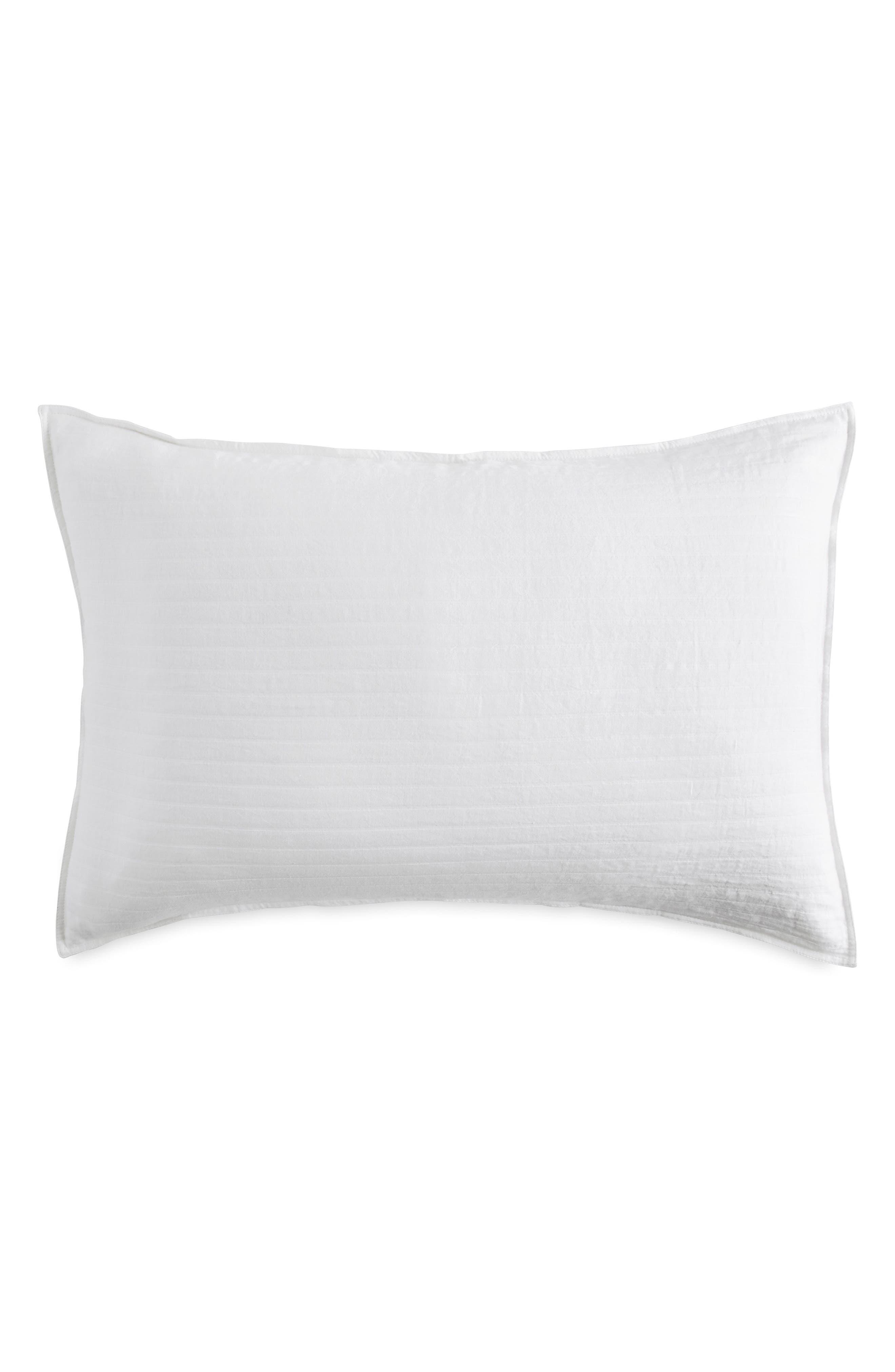 DKNY PURE Comfy White Pillow Sham, Main, color, WHITE