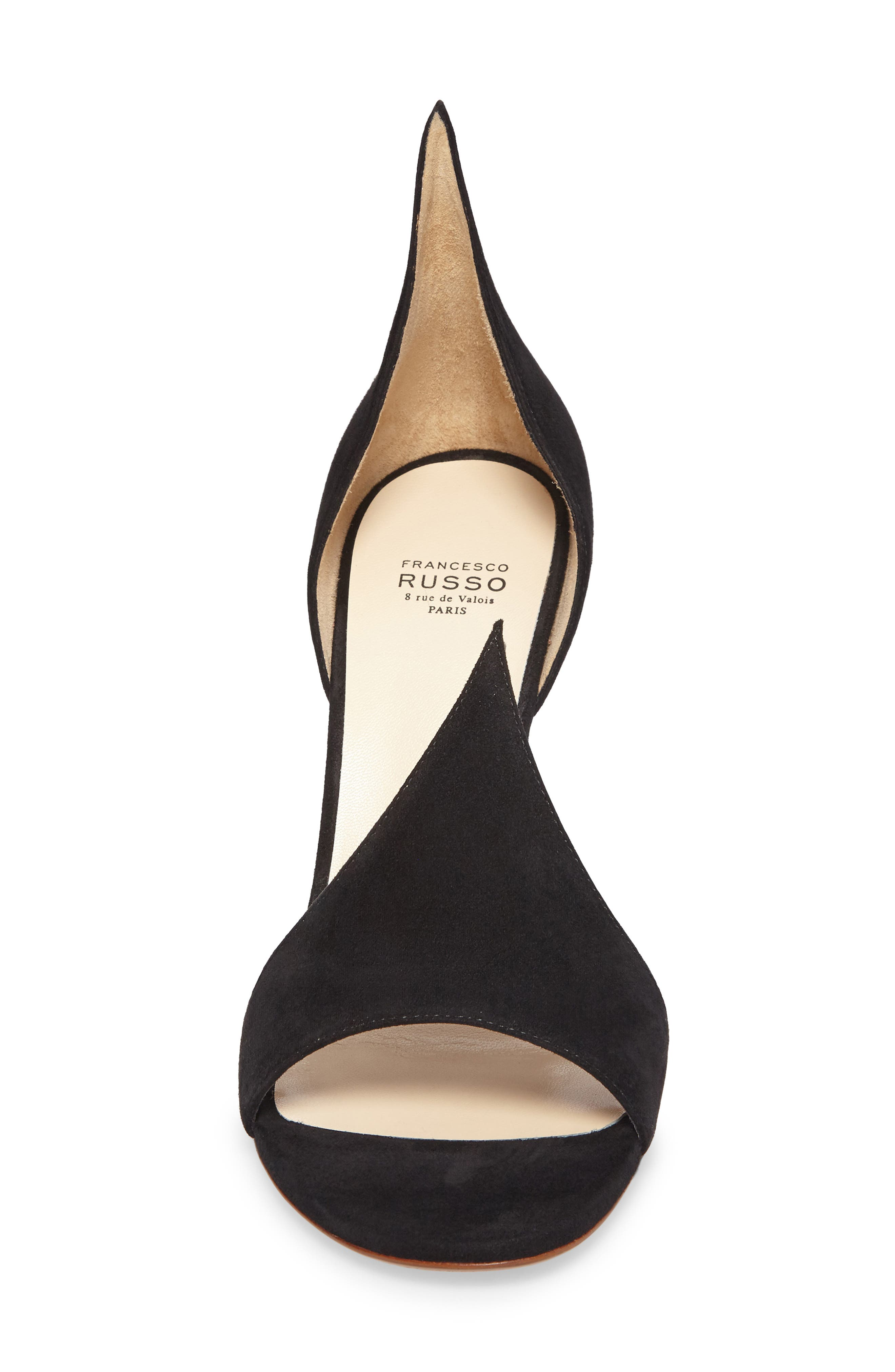 FRANCESCO RUSSO, Flame Sandal, Alternate thumbnail 4, color, BLACK