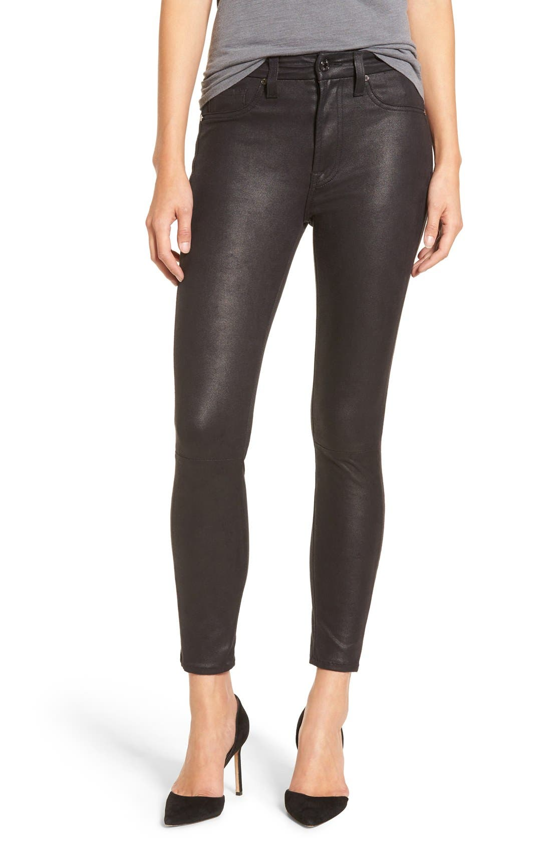 7 FOR ALL MANKIND<SUP>®</SUP> Knee Seam Skinny Pants, Main, color, 004