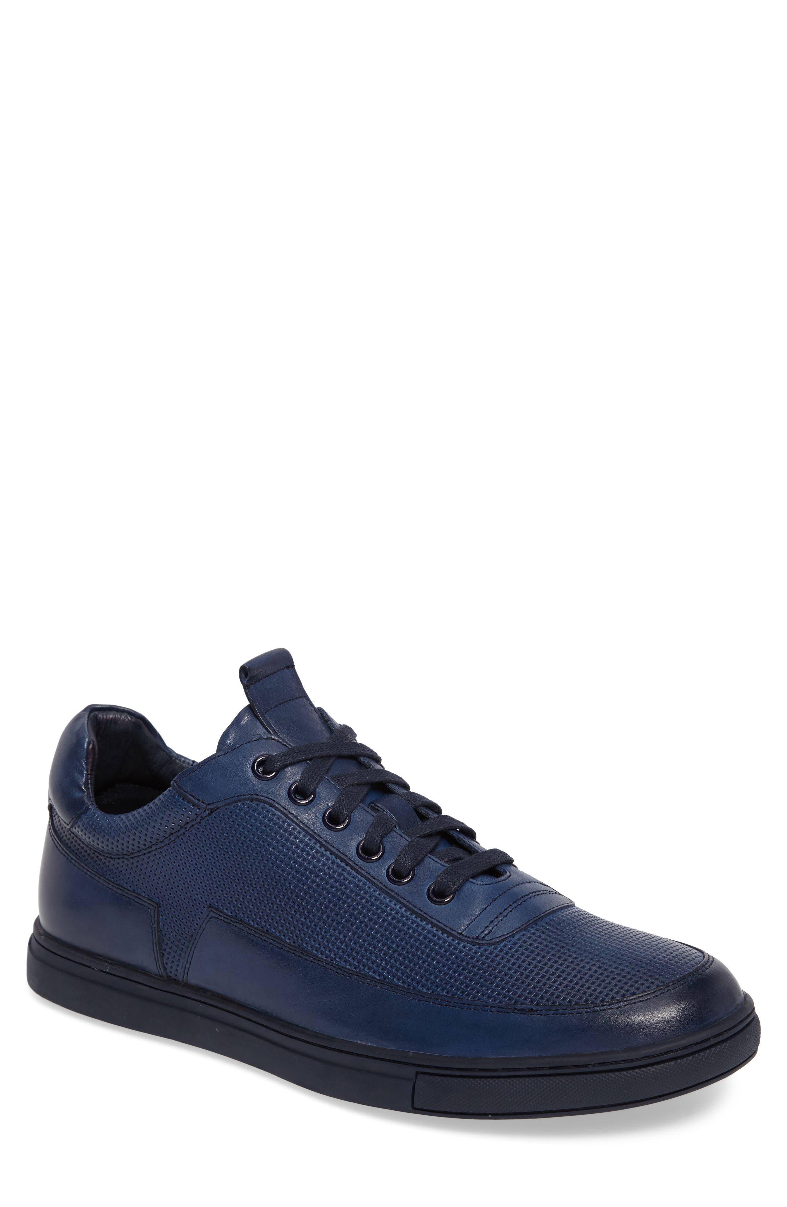 ZANZARA, Harmony Sneaker, Main thumbnail 1, color, BLUE LEATHER