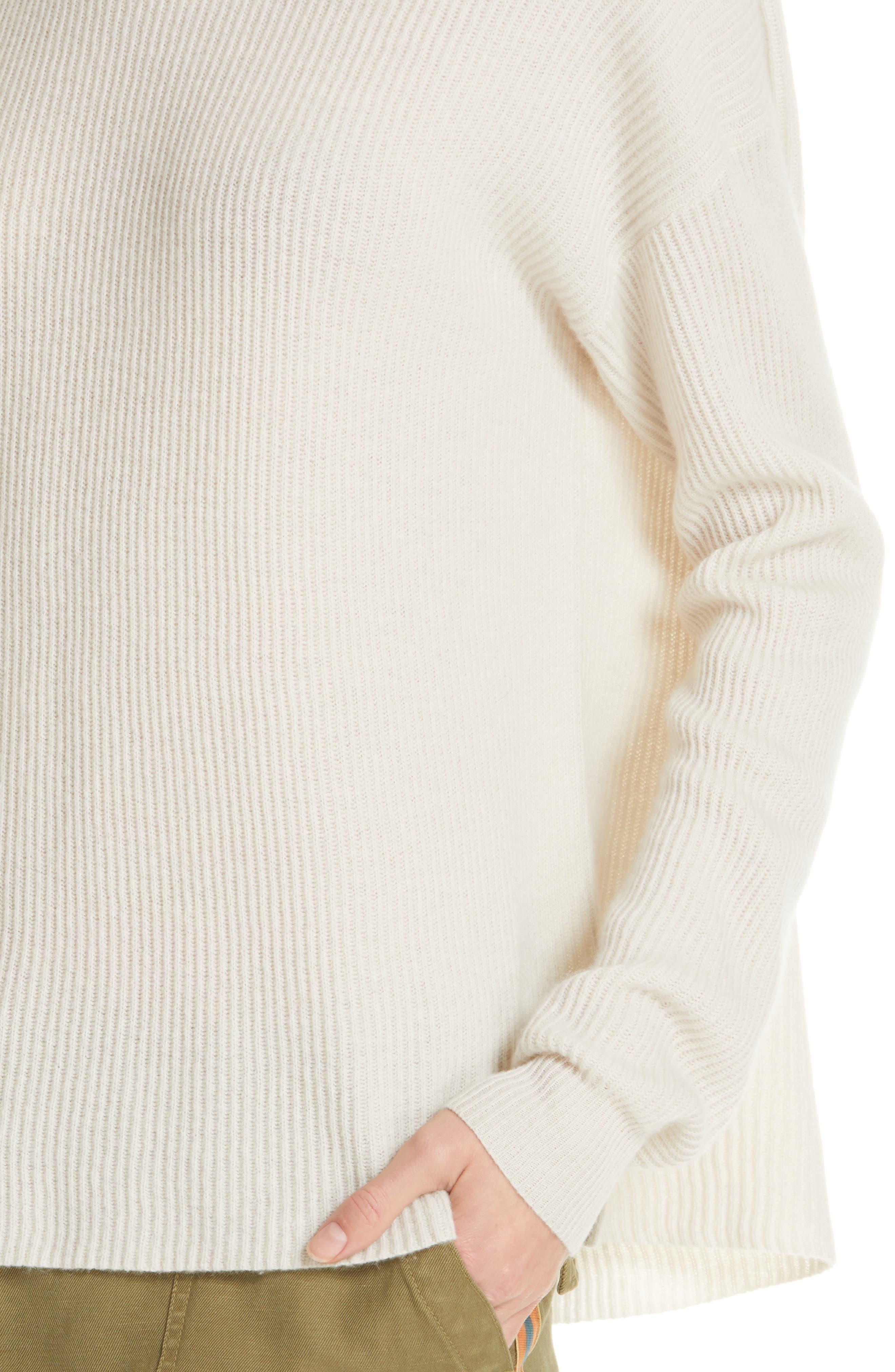 NILI LOTAN, Hadis Cashmere Sweater, Alternate thumbnail 4, color, IVORY