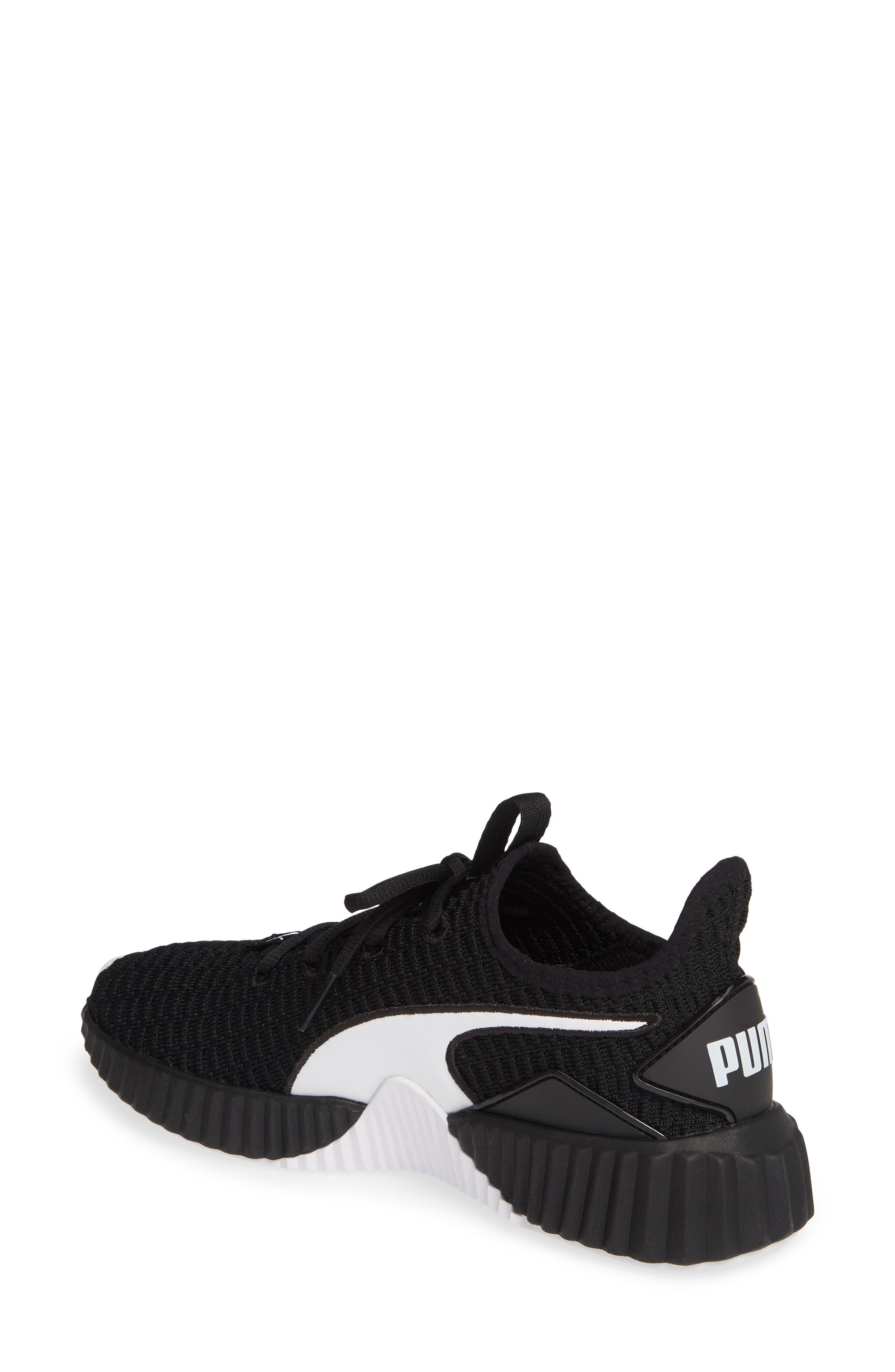 PUMA, Defy Sneaker, Alternate thumbnail 2, color, BLACK/ WHITE