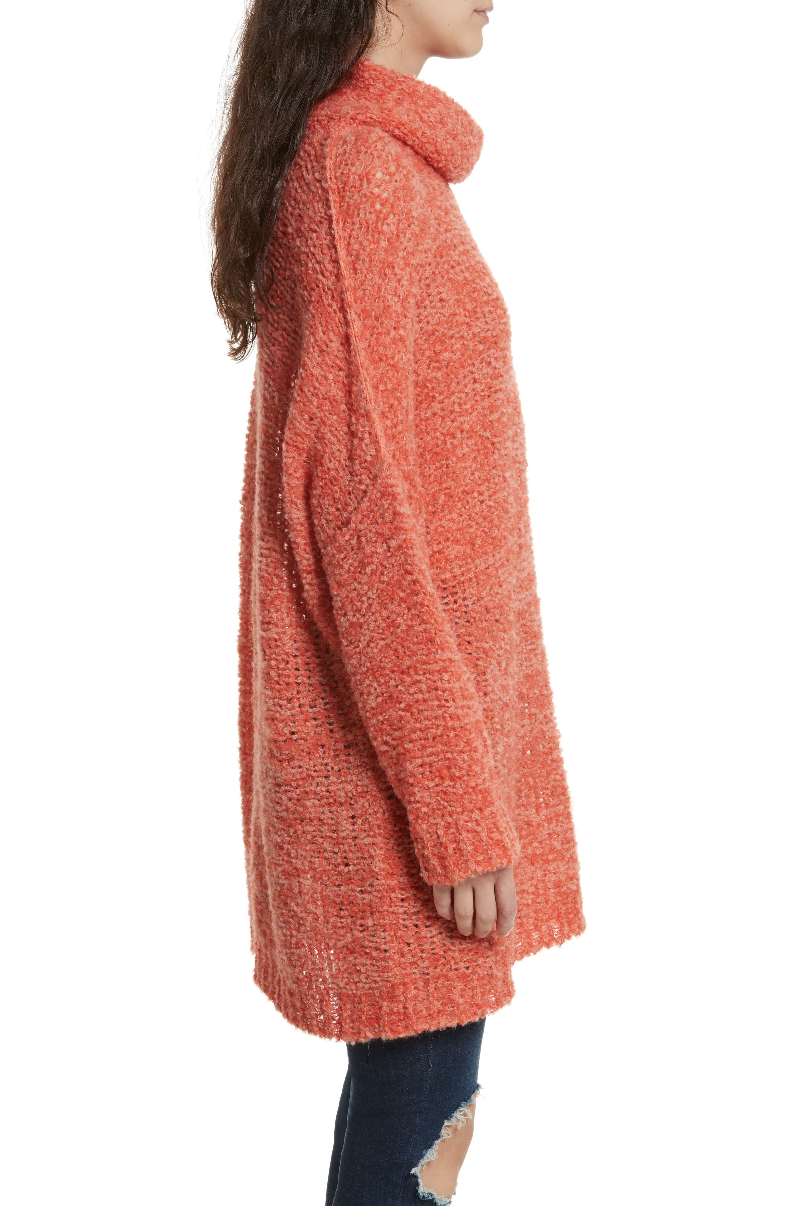 FREE PEOPLE, 'She's All That' Knit Turtleneck Sweater, Alternate thumbnail 3, color, 800