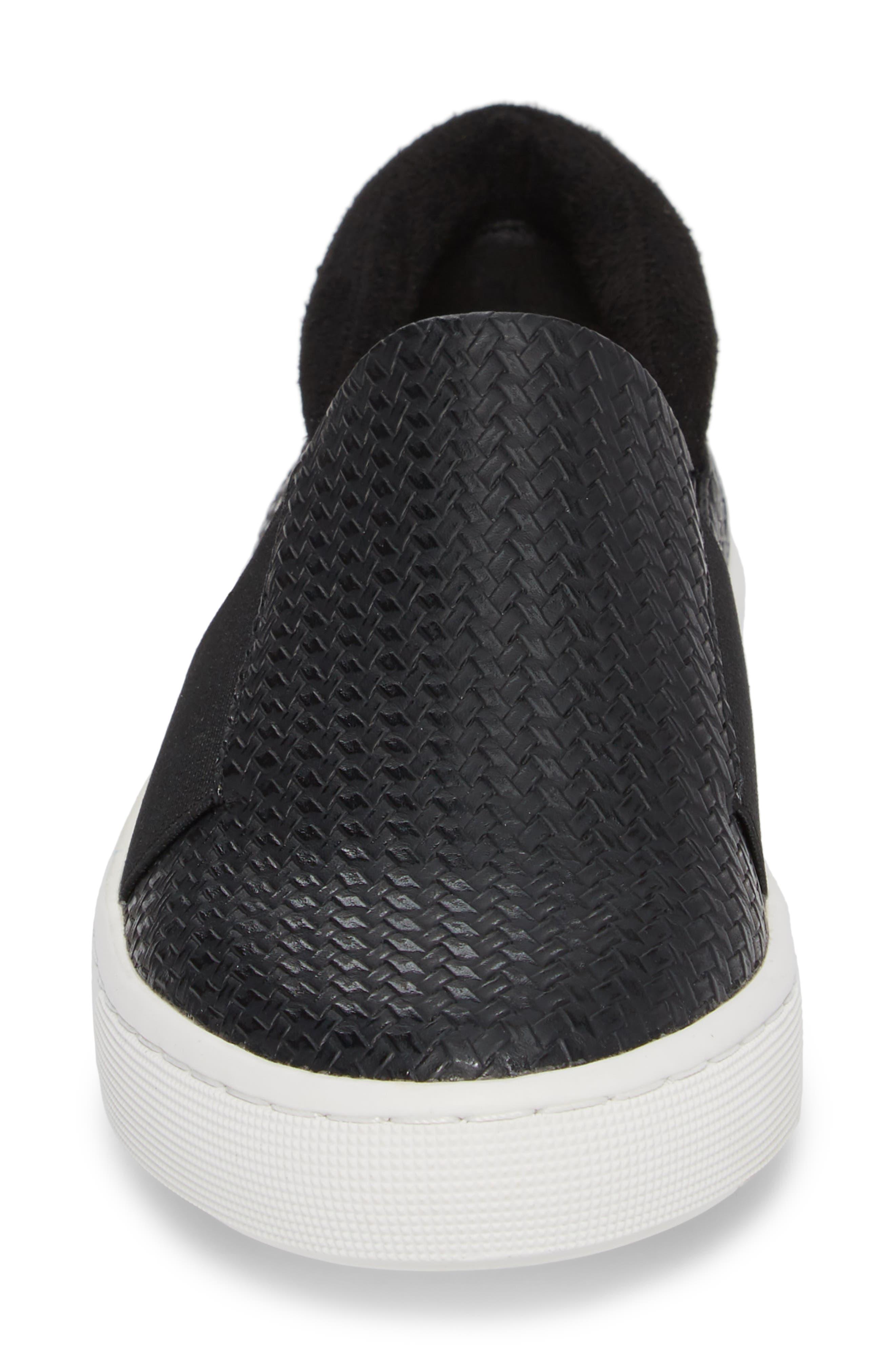 BELLA VITA, Ramp II Slip-On Sneaker, Alternate thumbnail 4, color, BLACK FABRIC