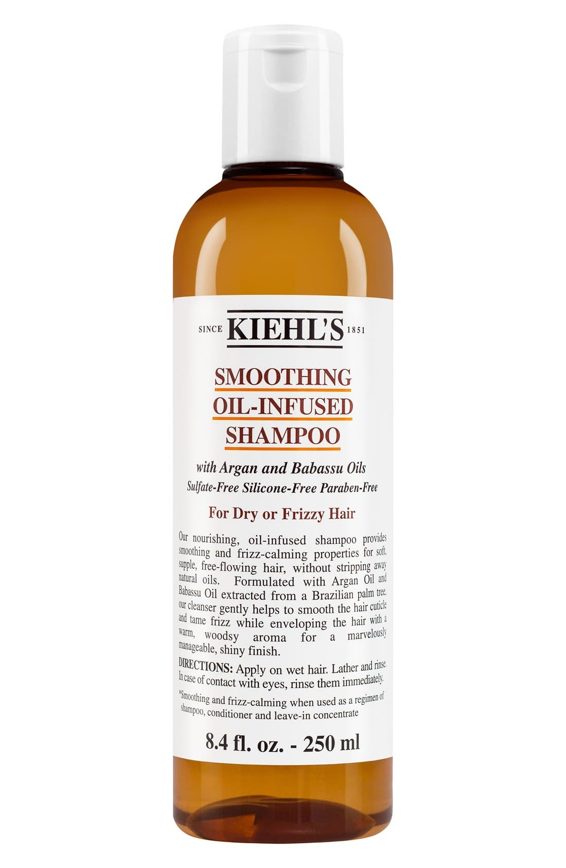 KIEHL'S SINCE 1851 Smoothing Oil-Infused Shampoo, Main, color, NO COLOR