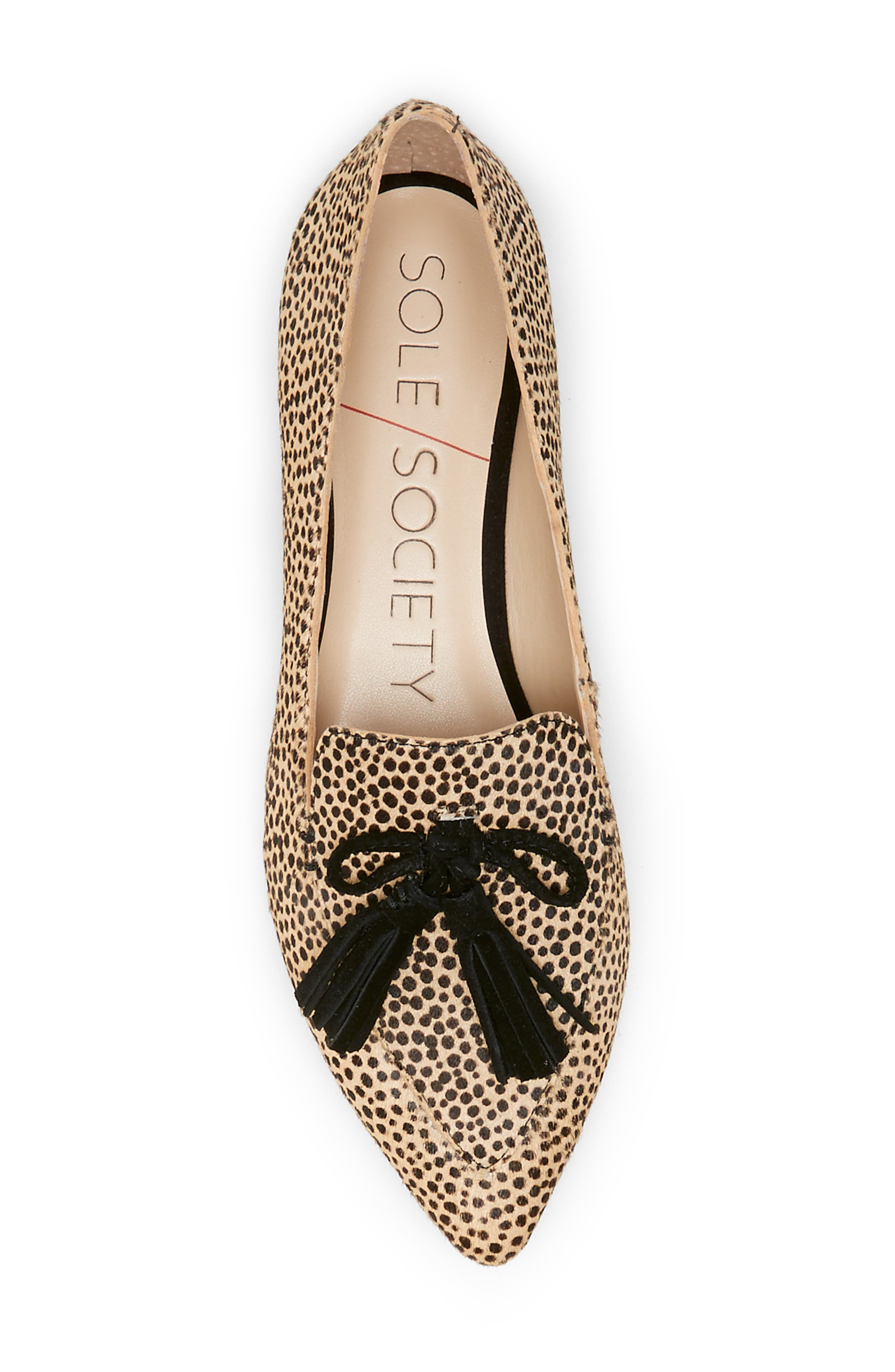 SOLE SOCIETY, Hadlee Loafer, Alternate thumbnail 3, color, DOTTED CALF HAIR