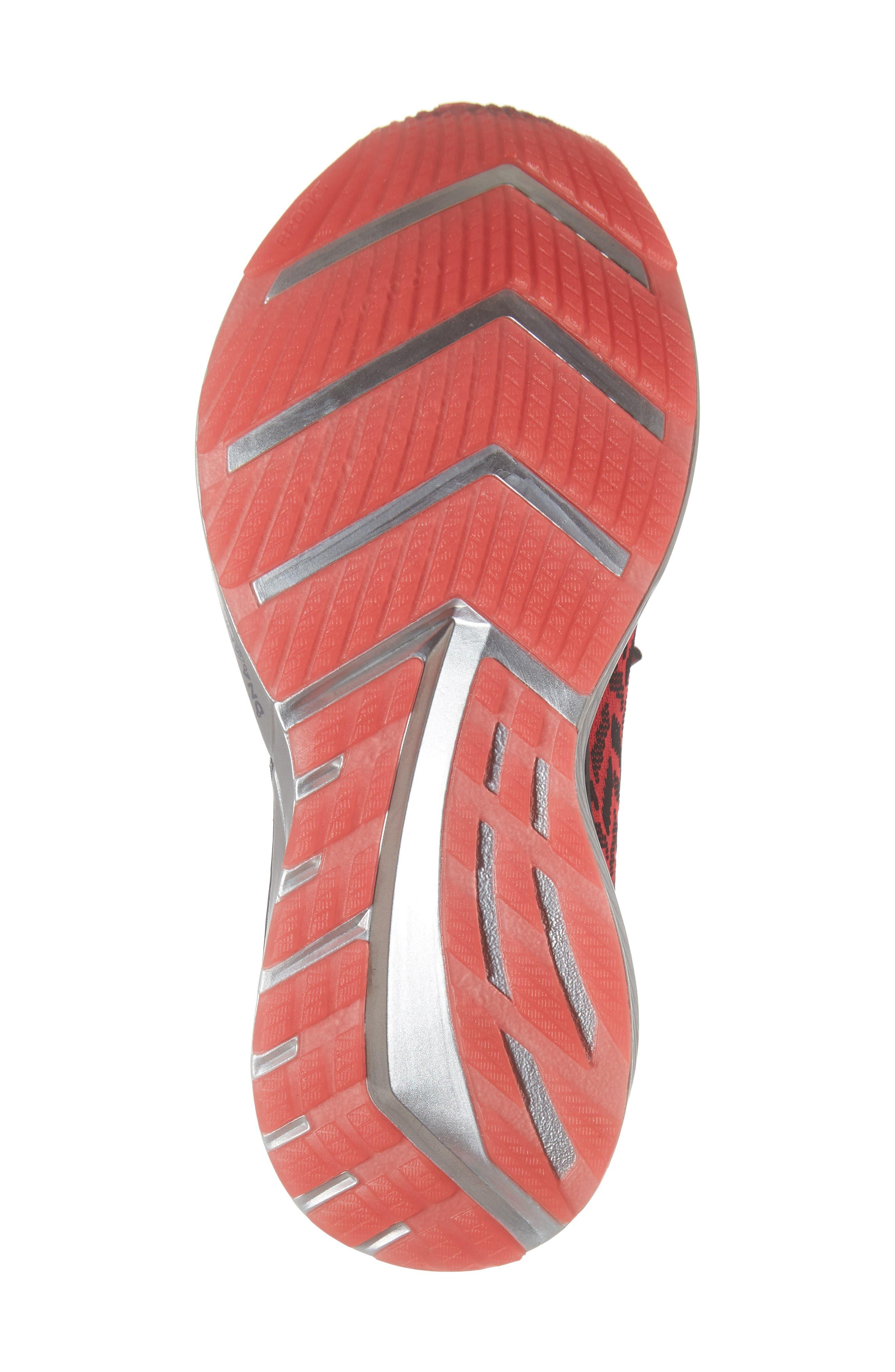 BROOKS, Bedlam Running Shoe, Alternate thumbnail 6, color, PINK/ BLACK/ WHITE