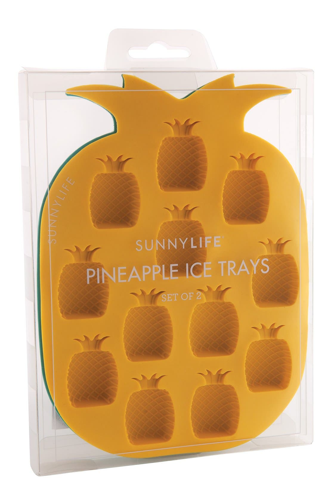 SUNNYLIFE, Pineapple Ice Cube Tray, Alternate thumbnail 2, color, 440
