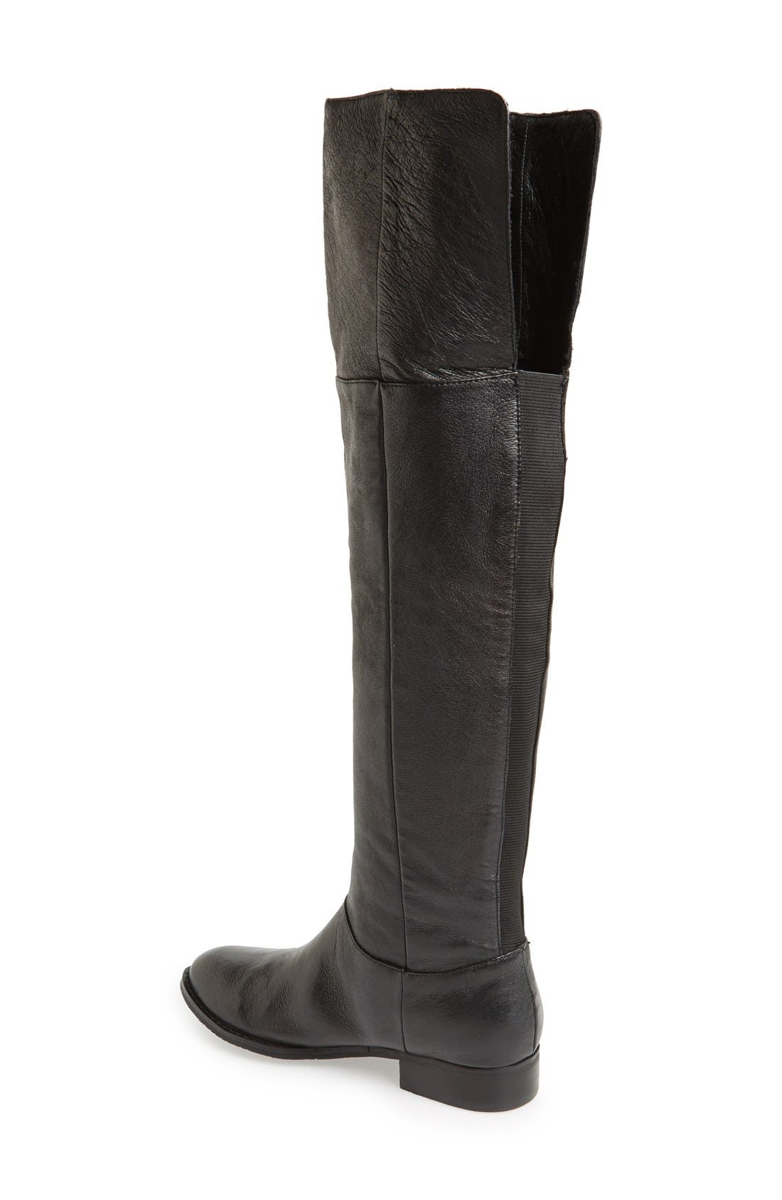 CHINESE LAUNDRY, 'Fawn' Leather Riding Boot, Alternate thumbnail 3, color, 001